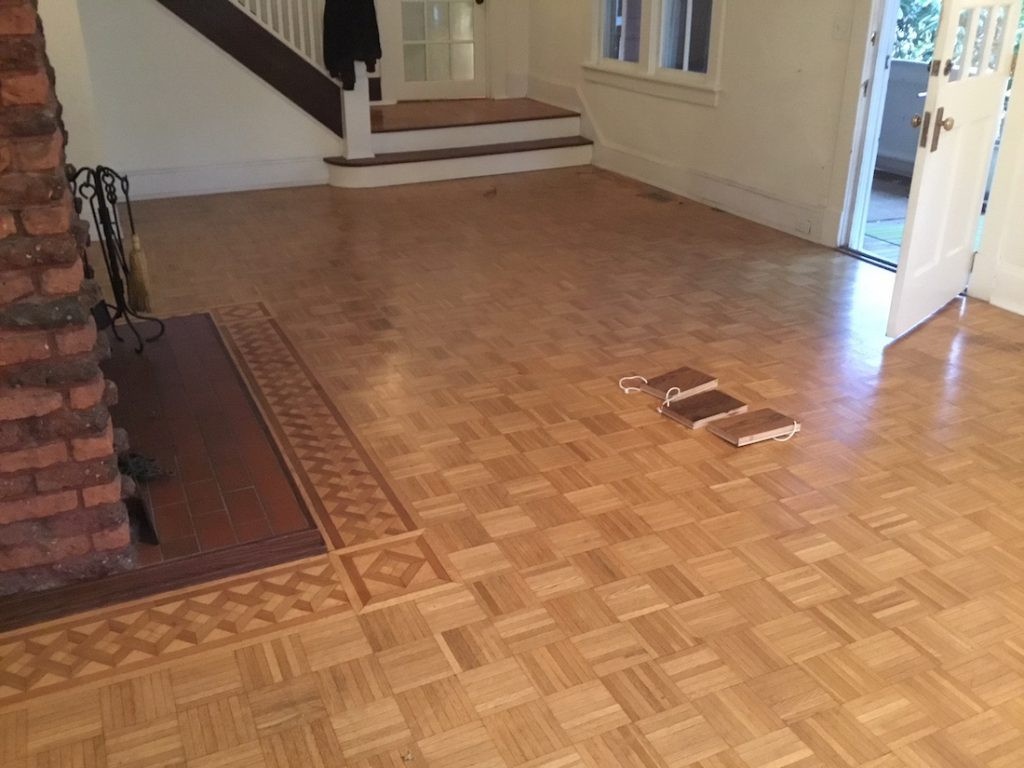 hardwood floor refinishing morris county nj of refinishing parquet floors in mountain lakes nj monks with regard to selecting a stain color for the parquet floors