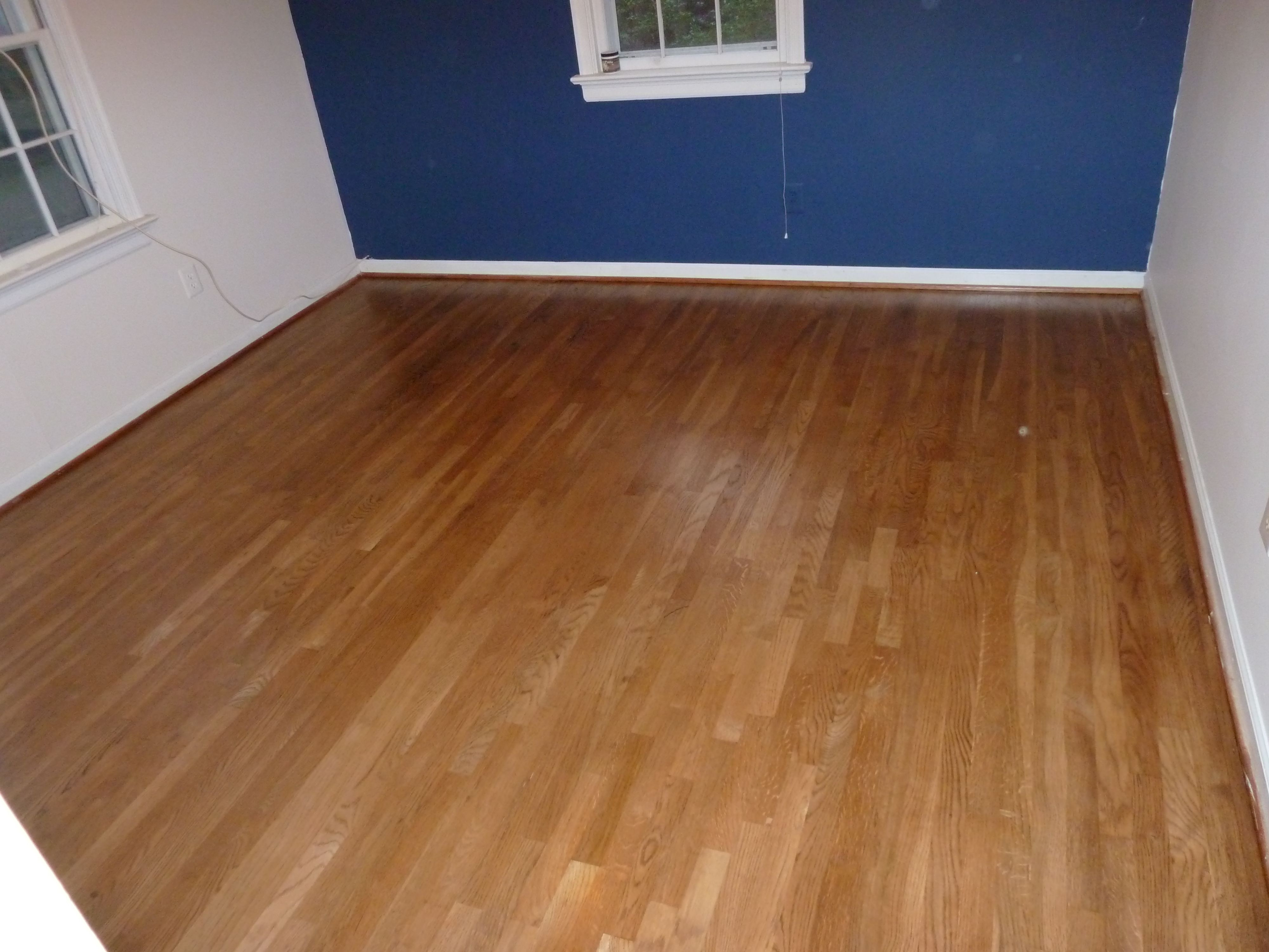 hardwood floor refinishing naperville il of red oak hardwood floor stained golden oak and coated with bona mega in red oak hardwood floor stained golden oak and coated with bona mega waterbased finish hardwood