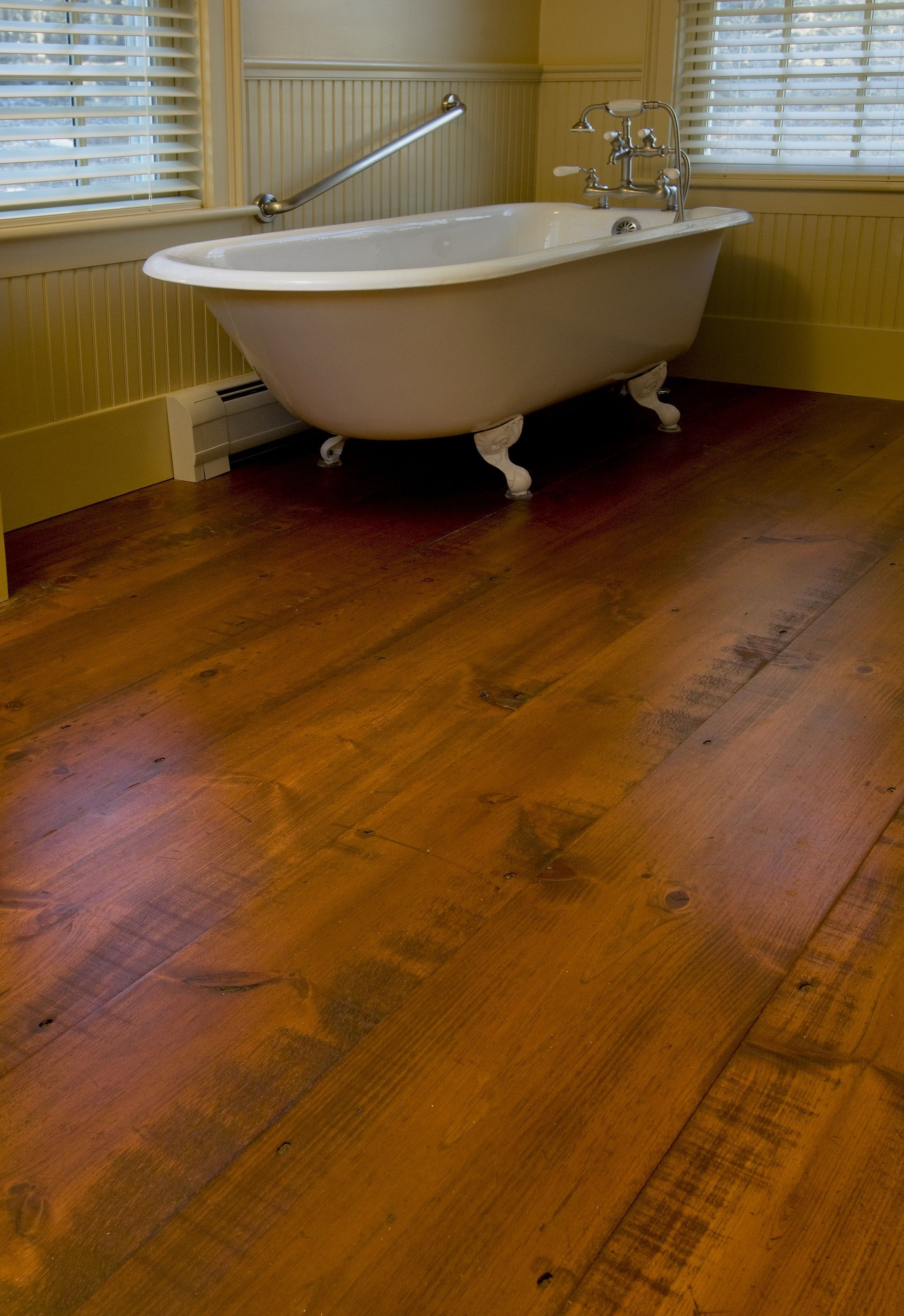 Hardwood Floor Refinishing New Haven Ct Of Carlisle Wide Plank Floors Eastern Hit or Miss White Pine Flooring In Carlisle Wide Plank Floors Eastern Hit or Miss White Pine Flooring In A Bathroom the