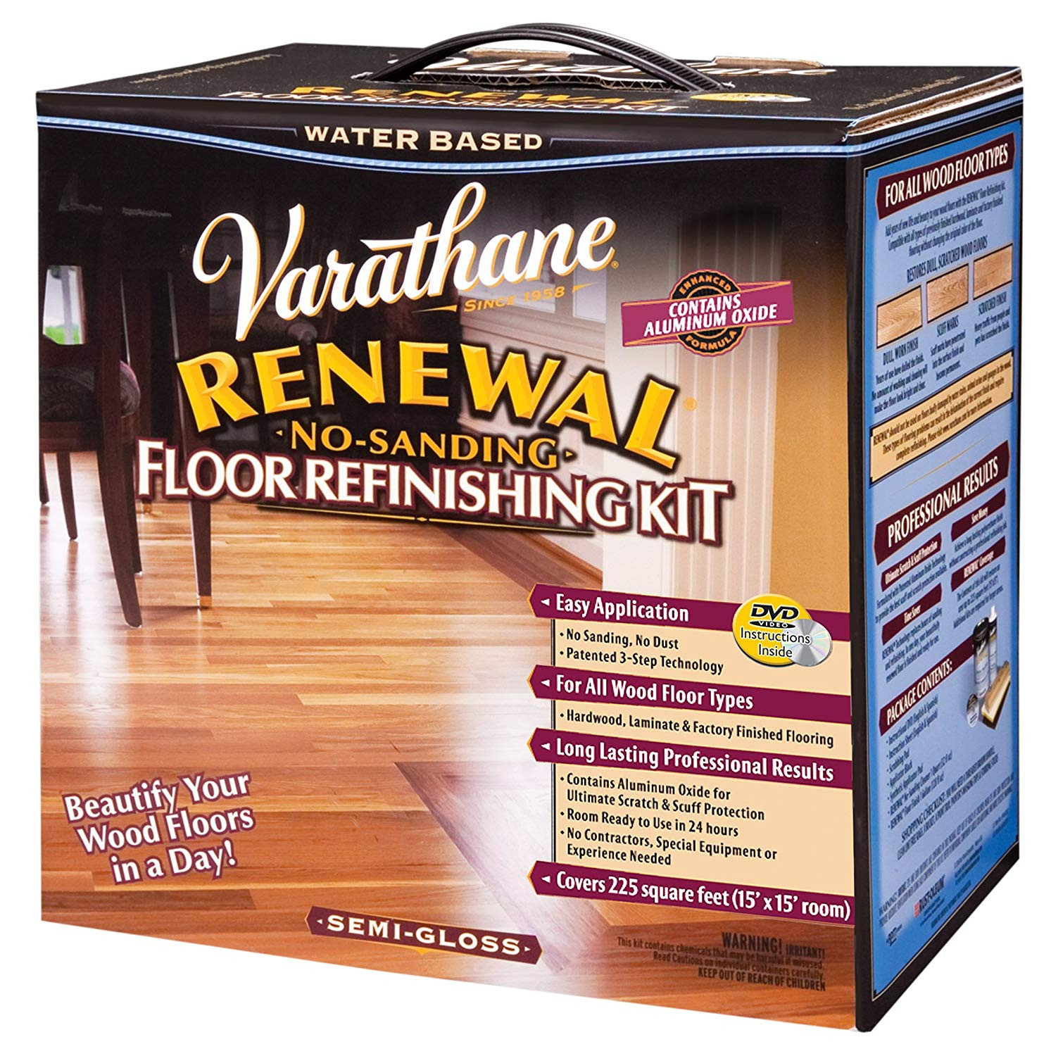 Hardwood Floor Refinishing Prices Per Square Foot Of Amazon Com Rust Oleum Varathane 242008 Renewal No Sanding Floor with Amazon Com Rust Oleum Varathane 242008 Renewal No Sanding Floor Refinishing Kit Semi Gloss Home Improvement