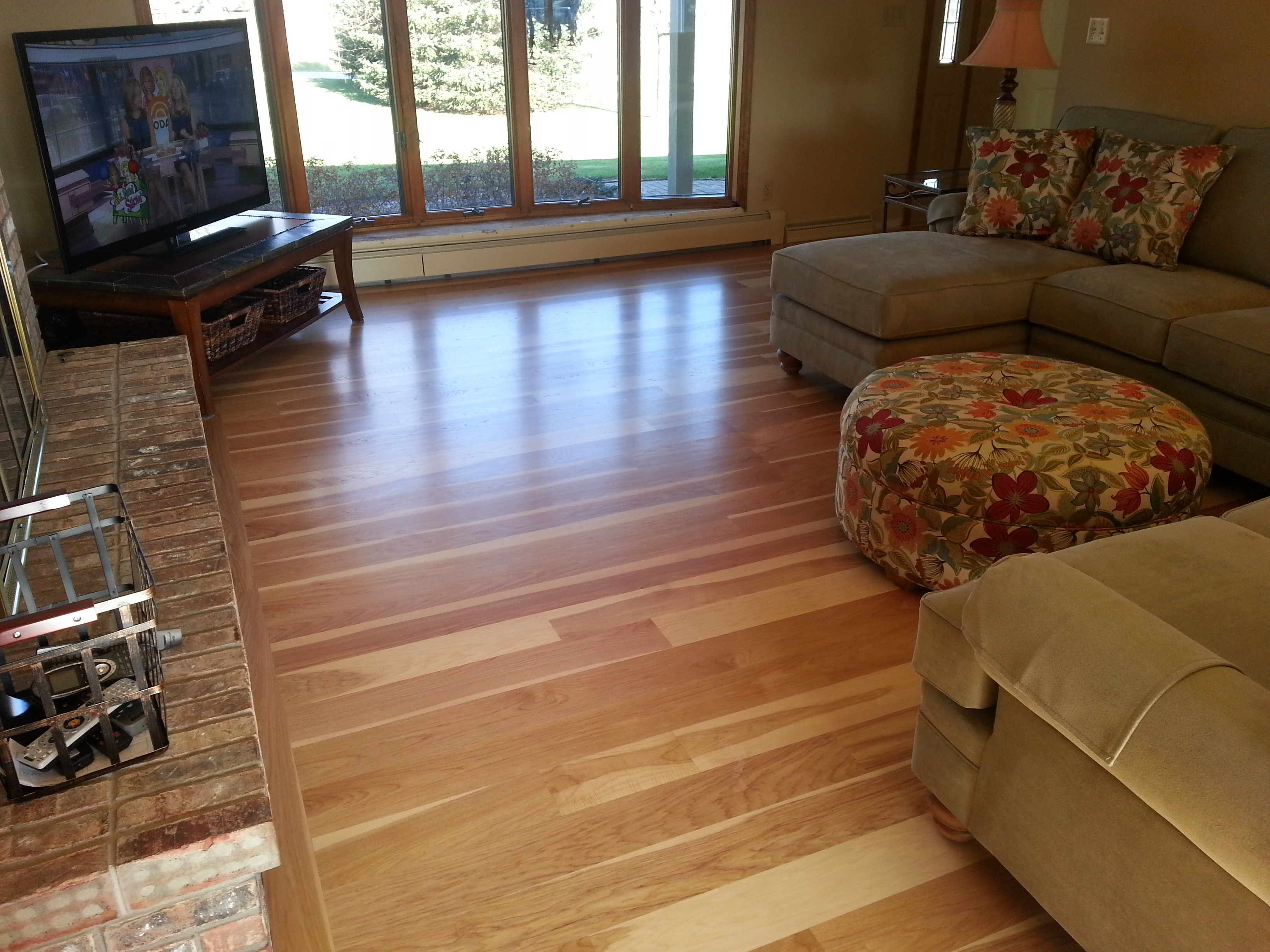 hardwood floor refinishing racine wi of custom hickory wide plank hardwood floor milwaukee wi my for custom hickory wide plank hardwood floor miwlaukee wi