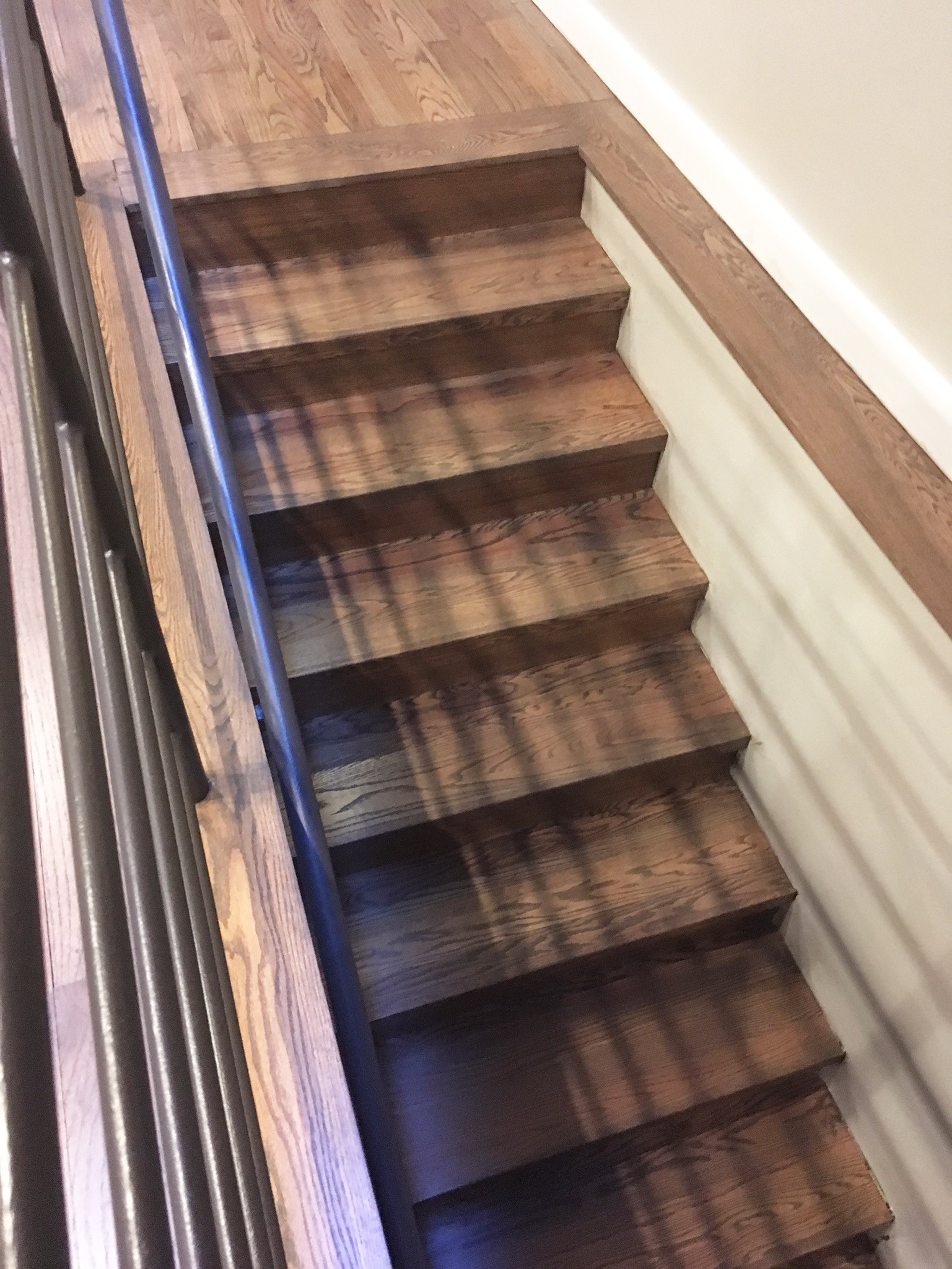 hardwood floor refinishing raleigh of hardwood stair treads staircasing installation milwaukee wi with click image to enlarge