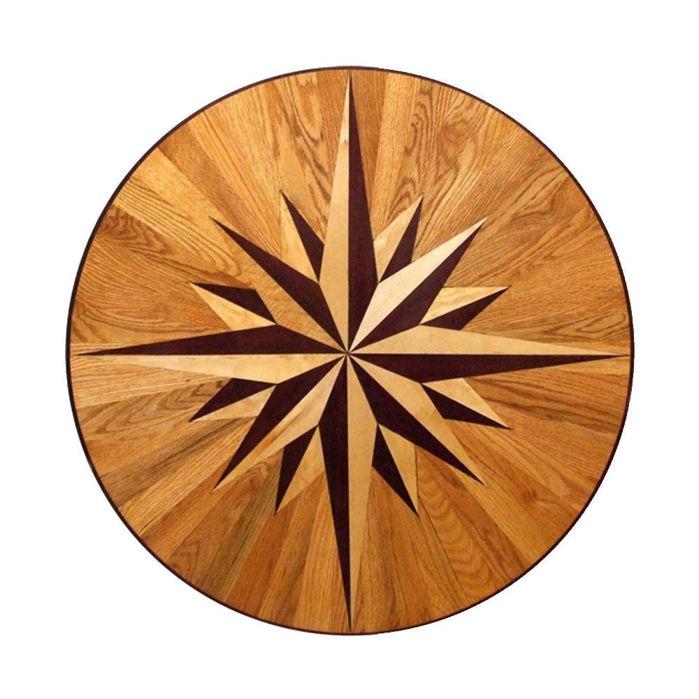 hardwood floor refinishing tulsa of hardwood flooring at the home depot intended for 3 4 in thick x 36 in wide circular medallion unfinished decorative