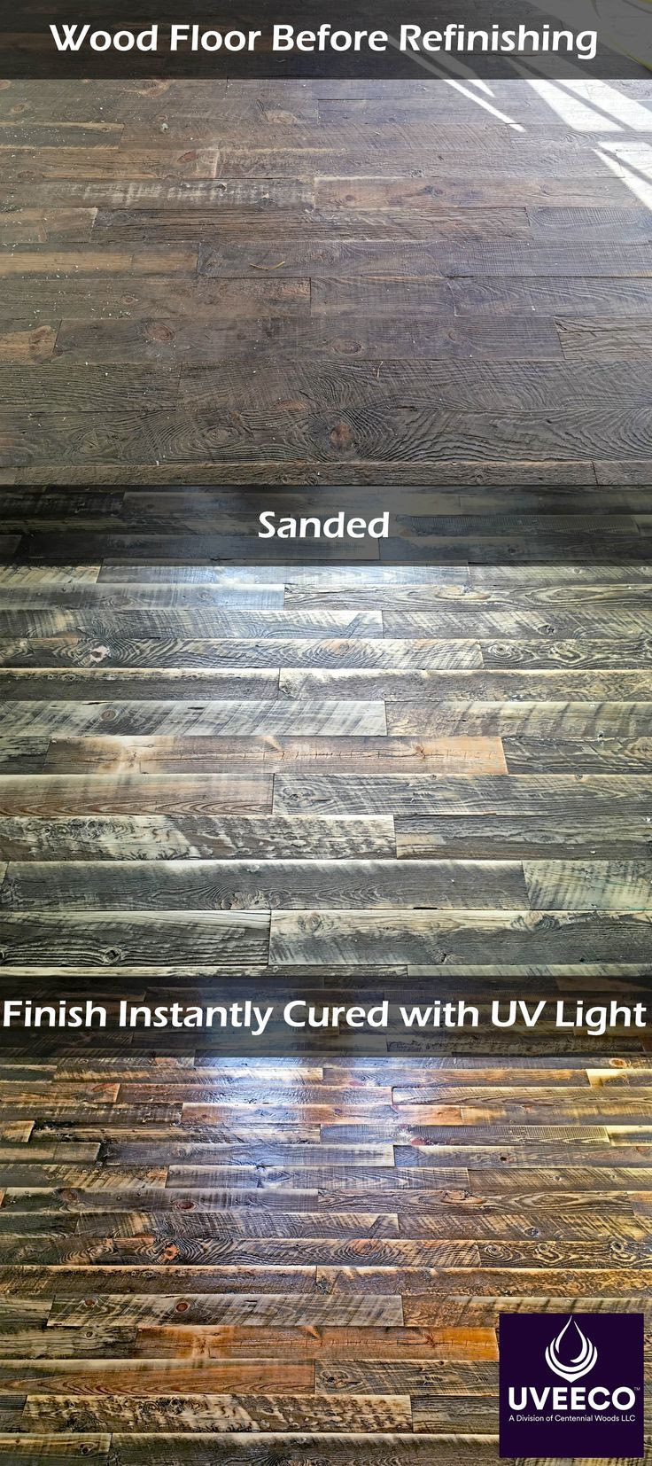 hardwood floor refinishing utah county of 10 best reclaimed wood flooring images on pinterest wood floor in an old floor made with reclaimed tongue and groove boards milled from recycled wyoming snow fence planks gets refinished this floor was coated with uveeco