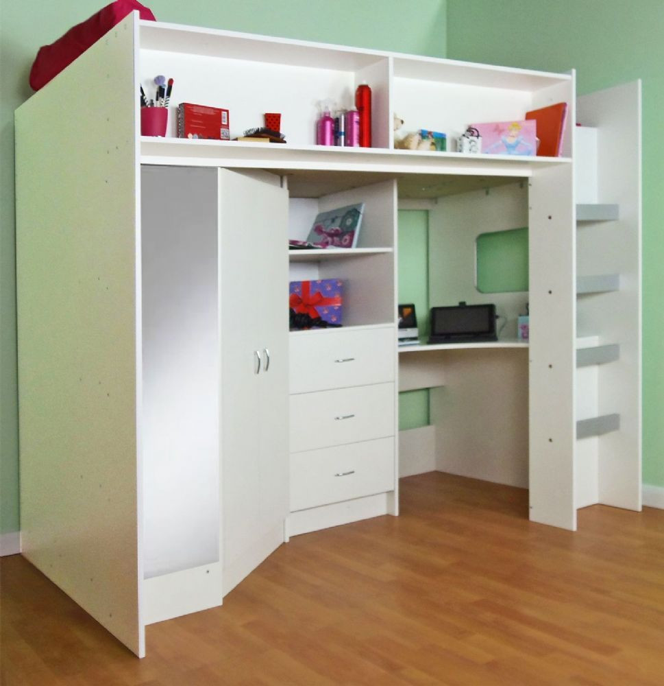 hardwood floor refinishing utica ny of stamford high sleeper cabin bed a¸a¹‰a¸a¸‡a¸™a¸a¸™ pinterest bed bedroom within cabin bed with a high sleeper function with a large wardrobe and desk also with oak finish