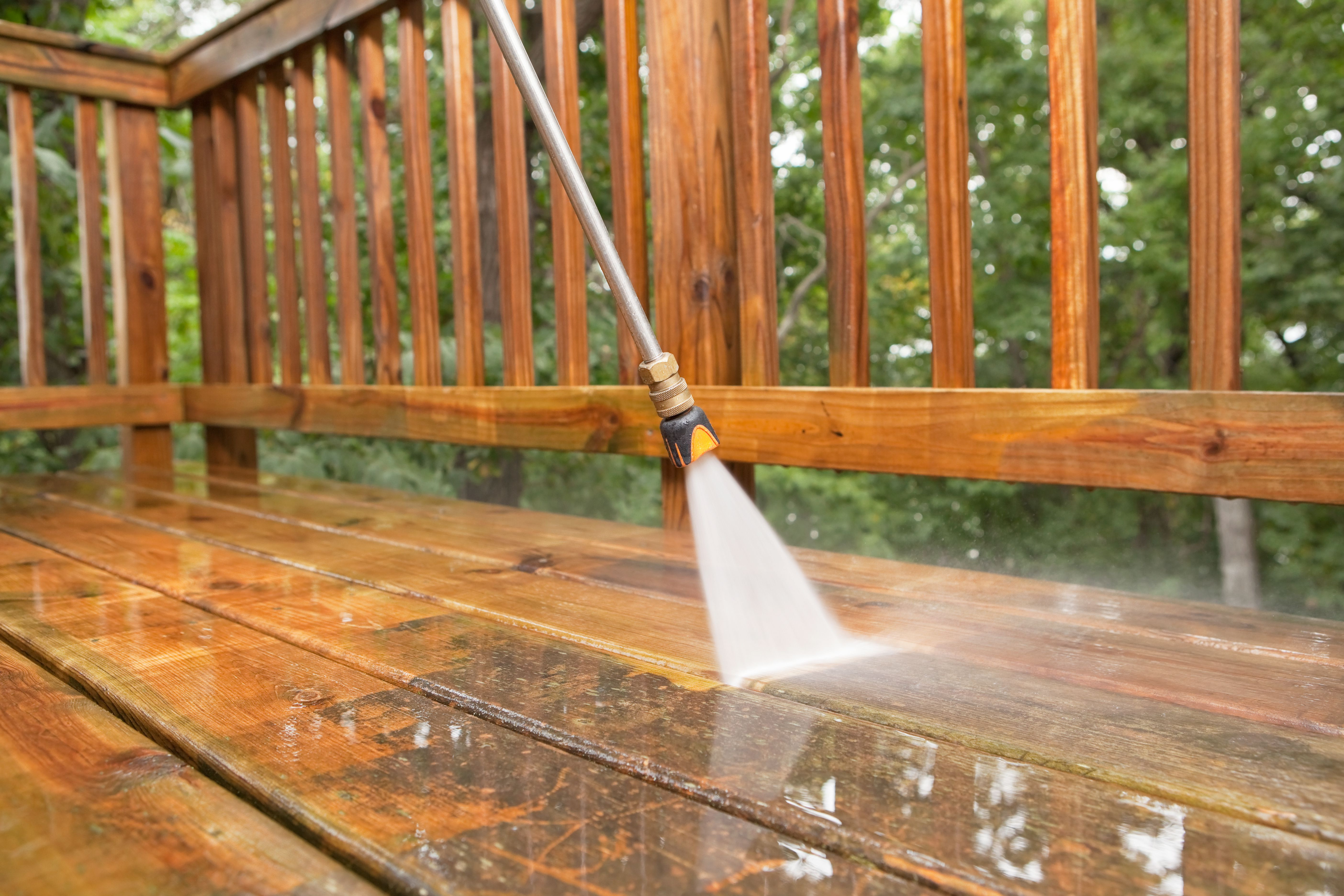 hardwood floor refinishing windsor of refinishing a wood deck an overview throughout pressure washer cleaning a weathered deck 171356261 5810fd5d5f9b58564c69c9c6