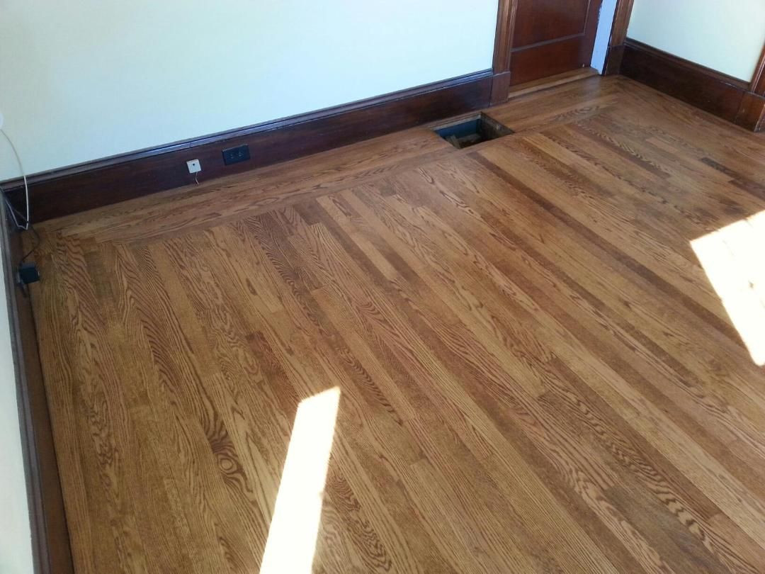 hardwood floor refinishing worcester ma of white oak hardwood floors in worcester ma central mass hardwood within white oak hardwood floors in worcester ma central mass hardwood sanded the floors then applied an early america stain over the white oak