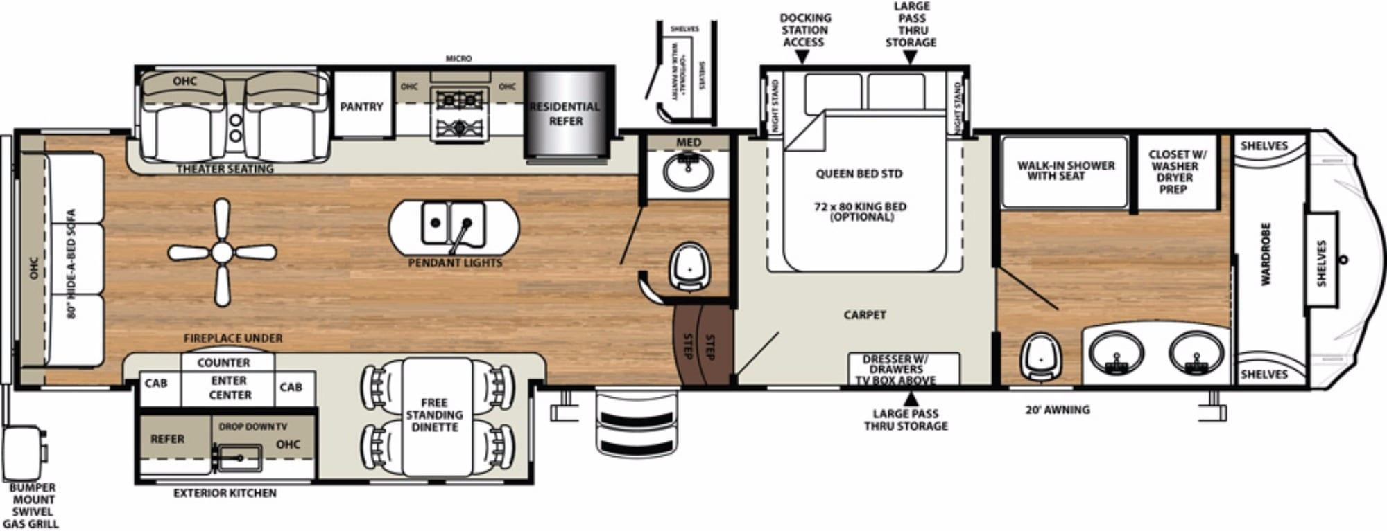 hardwood floor repair birmingham al of forest river sandpiper rvs for sale camping world rv sales throughout bedroom