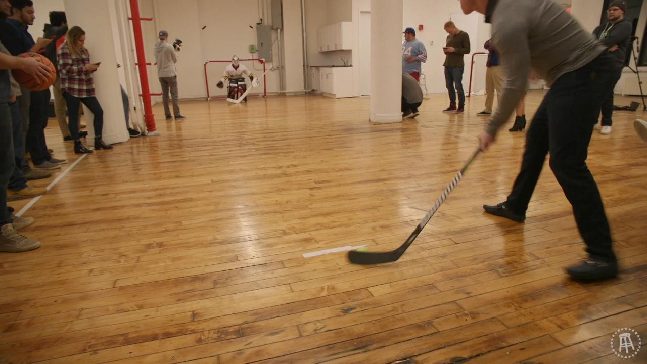 hardwood floor repair fort collins of barstool goalie challenge featuring auston matthews mitch marner pertaining to barstool goalie challenge featuring auston matthews mitch marner and matt martin barstool sports
