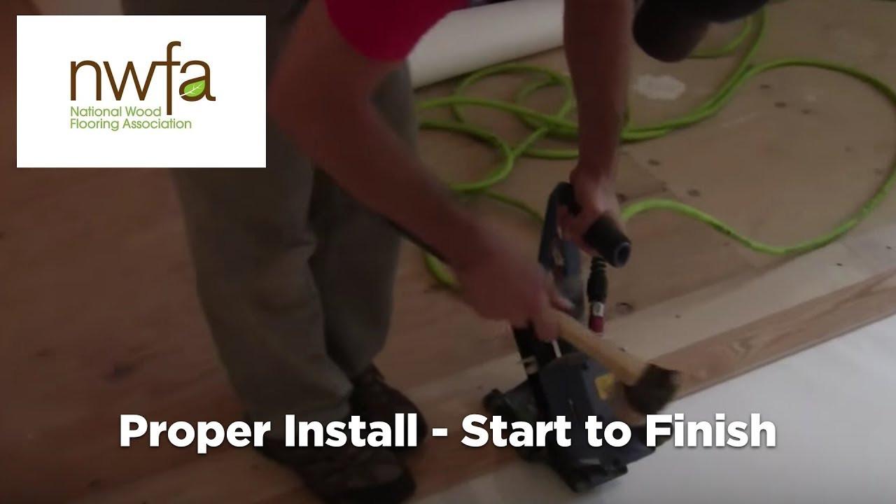 hardwood floor spline of how to properly install hardwood flooring youtube in how to properly install hardwood flooring