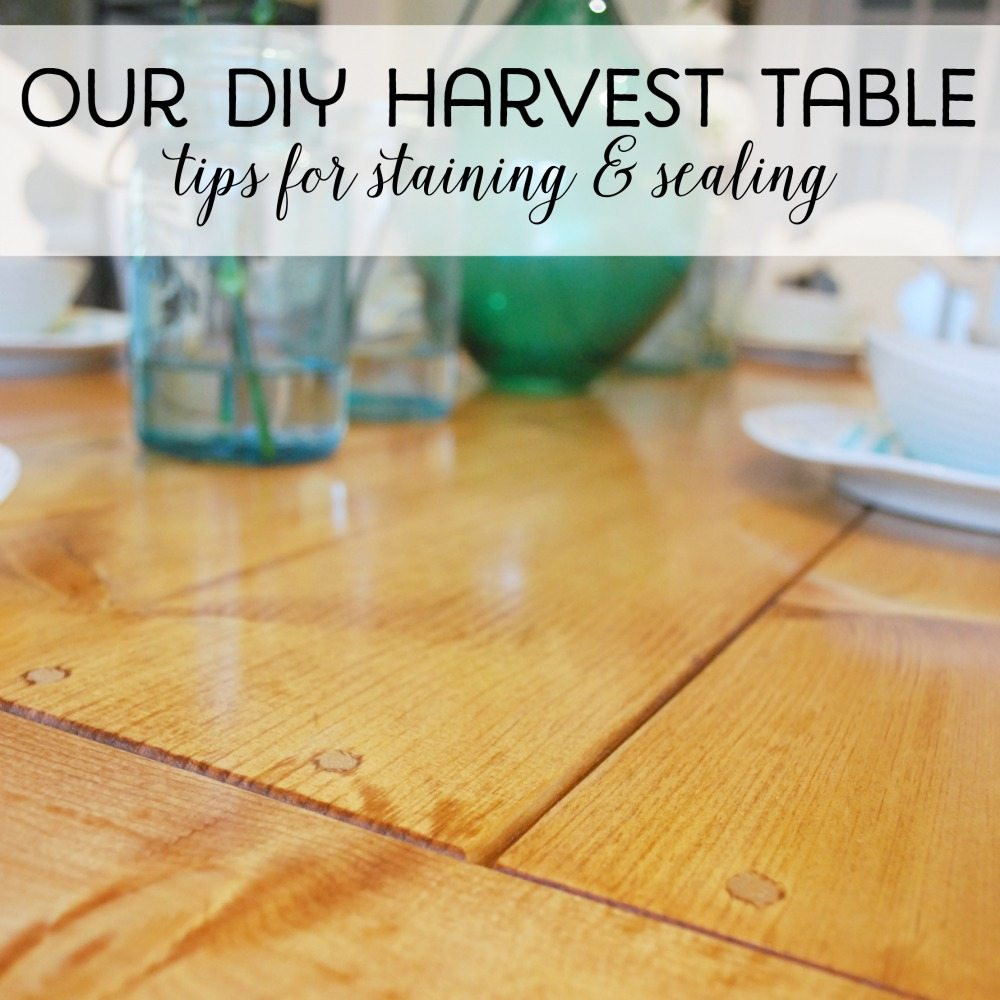 hardwood floor stain and sealer of our diy harvest table sanding staining sealing the sweetest digs regarding building our diy harvest table how we sanded stained and sealed it square
