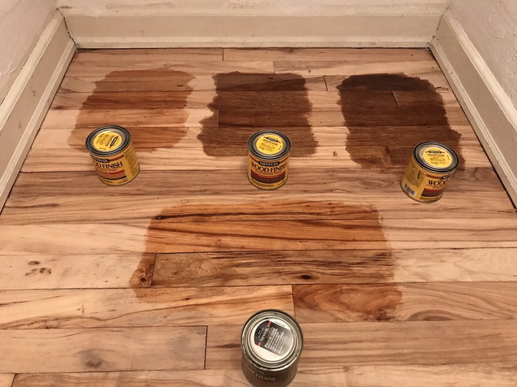 hardwood floor stain not drying of refinishing hardwood floors carlhaven made inside maple has such a rich color and pretty detailing we opted to not stain here is where you would apply a stain to the wood using an applicator pad