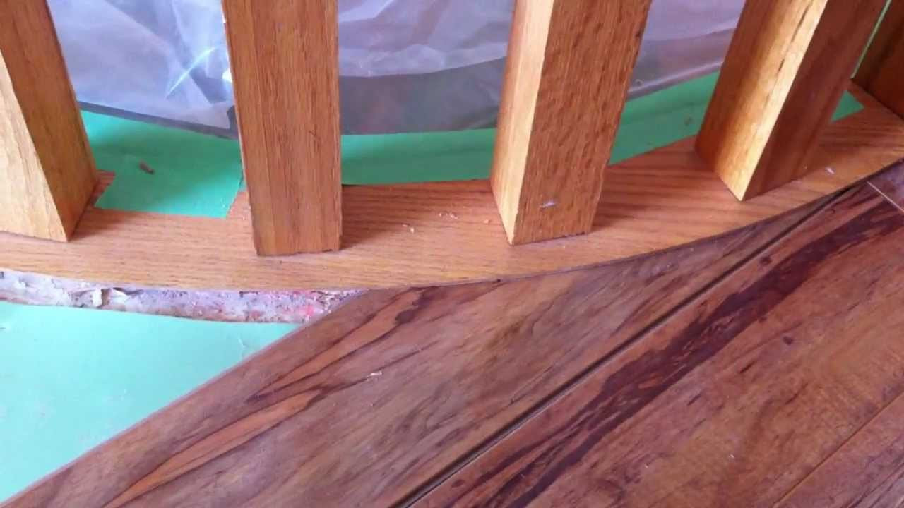 hardwood floor stair nose of sill plate laminate undercut demo youtube for sill plate laminate undercut demo