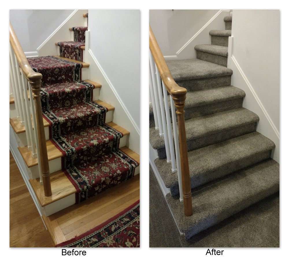 hardwood floor stair runner of from worn old stair runner to classy grey modern multiflec frank for photo of elizabethtown flooring paint blinds elizabethtown pa united states from worn