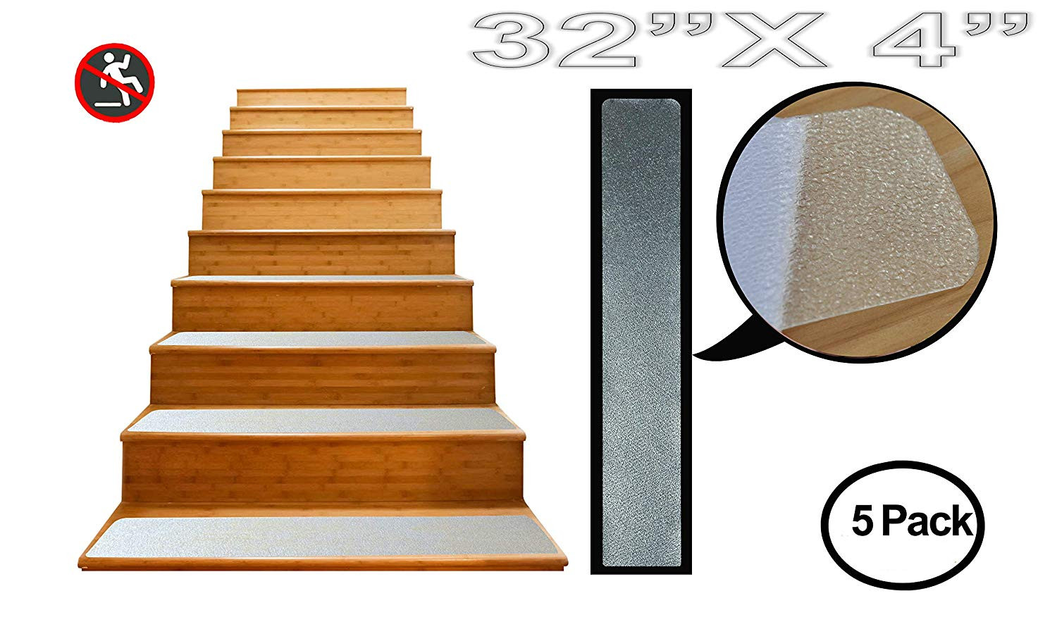 hardwood floor stairs slippery of non slip stair treads tape 12 pack pre cut clear anti slip rubber throughout non slip stair treads tape 12 pack pre cut clear anti slip rubber adhesive grip safety strips for indoor and outdoor steps 4x32 rounded corners