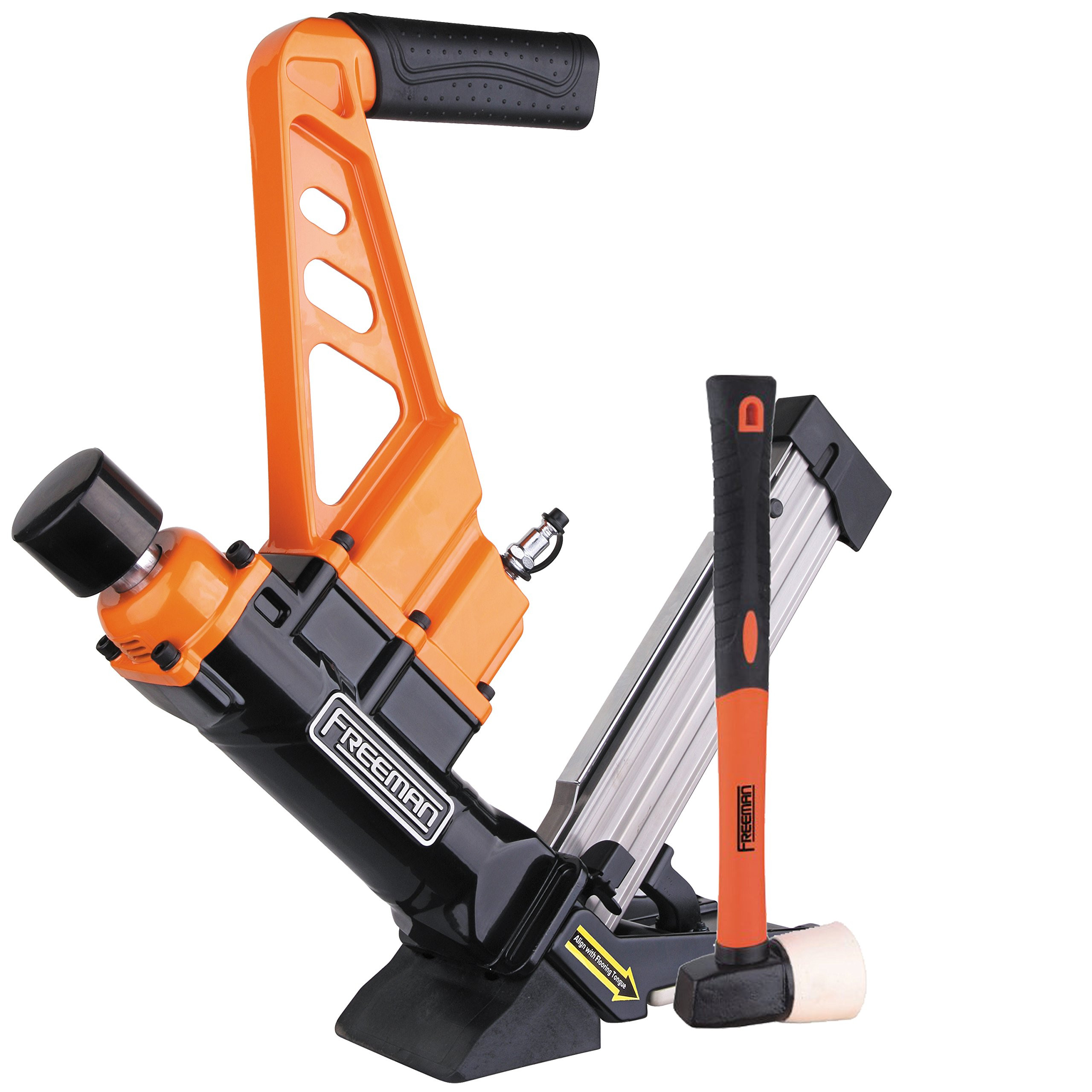 hardwood floor stapler reviews of best rated in power nailers staplers helpful customer reviews pertaining to freeman pdx50c 3 in 1 flooring cleat nailer stapler with fiberglass mallet product