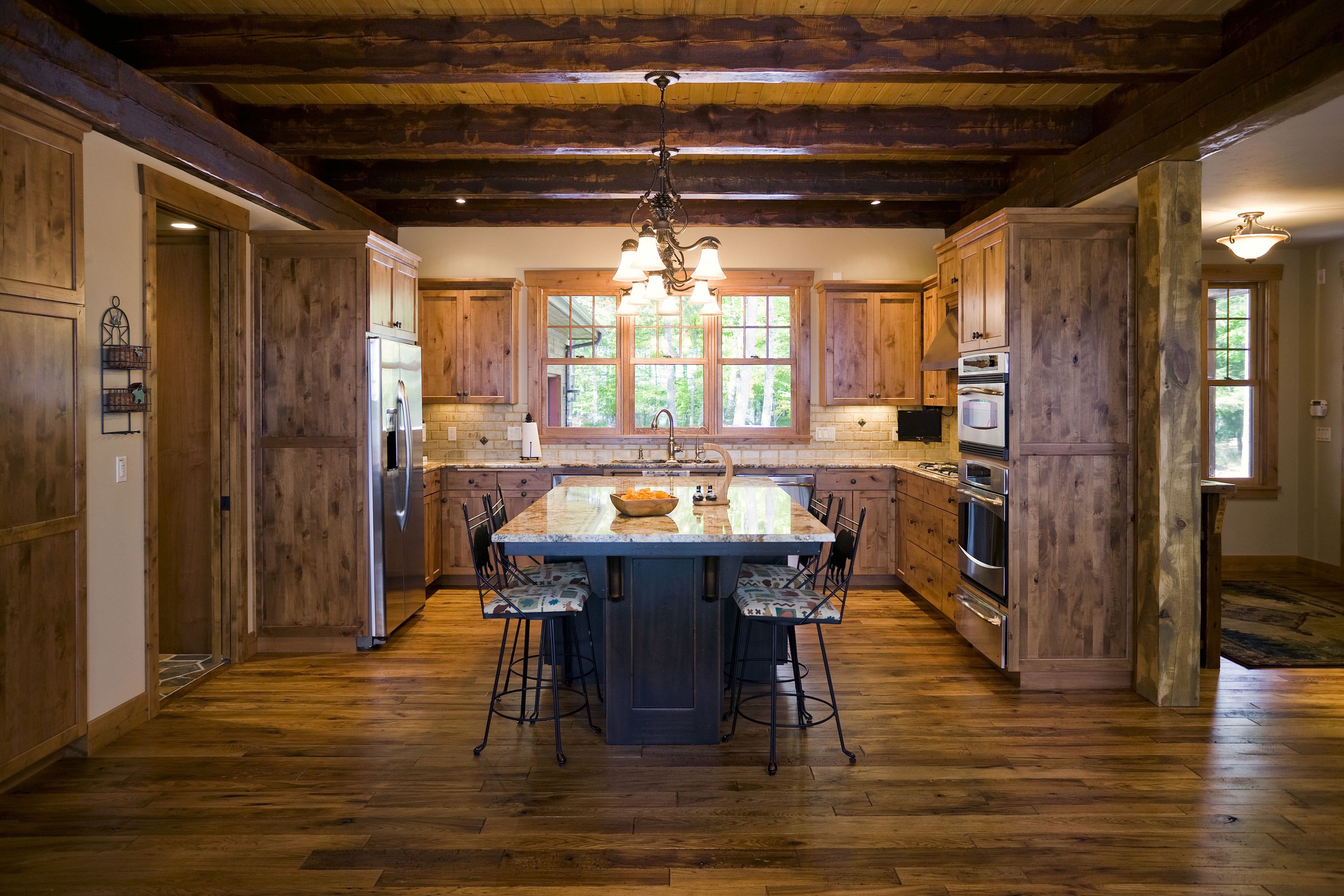 hardwood floor supply long island ny of country or rustic kitchen design ideas throughout kitchen with wood floor and open wood beam ceiling 88801427 image studios 56a4a1615f9b58b7d0d7e63f