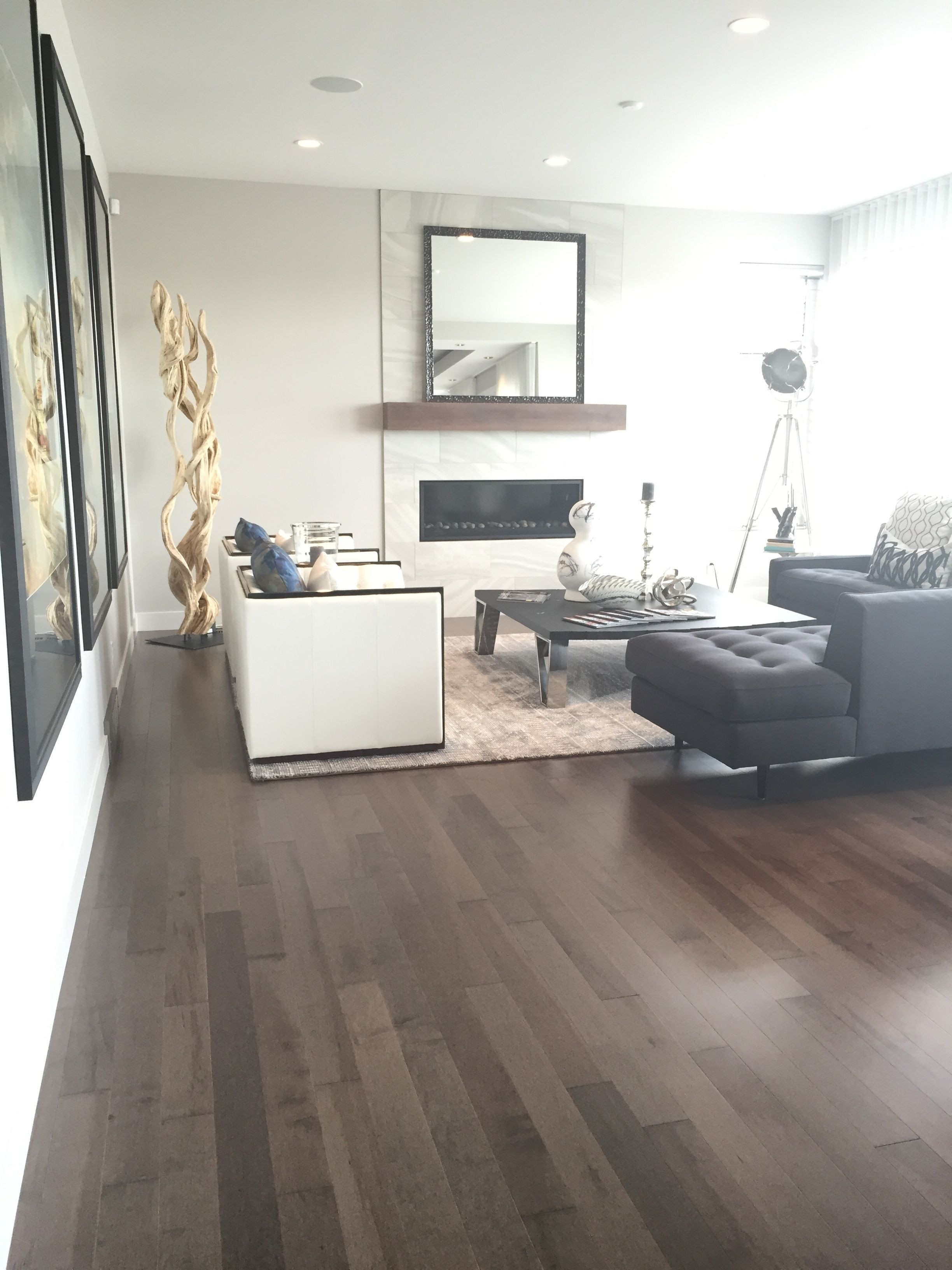 Hardwood Floor Trends Of Smoky Grey Essential Hard Maple Tradition Lauzon Hardwood Throughout Beautiful Living Room From the Cantata Showhome Featuring Lauzons Smokey Grey Hard Maple Hardwood Flooring From the Essential Collection