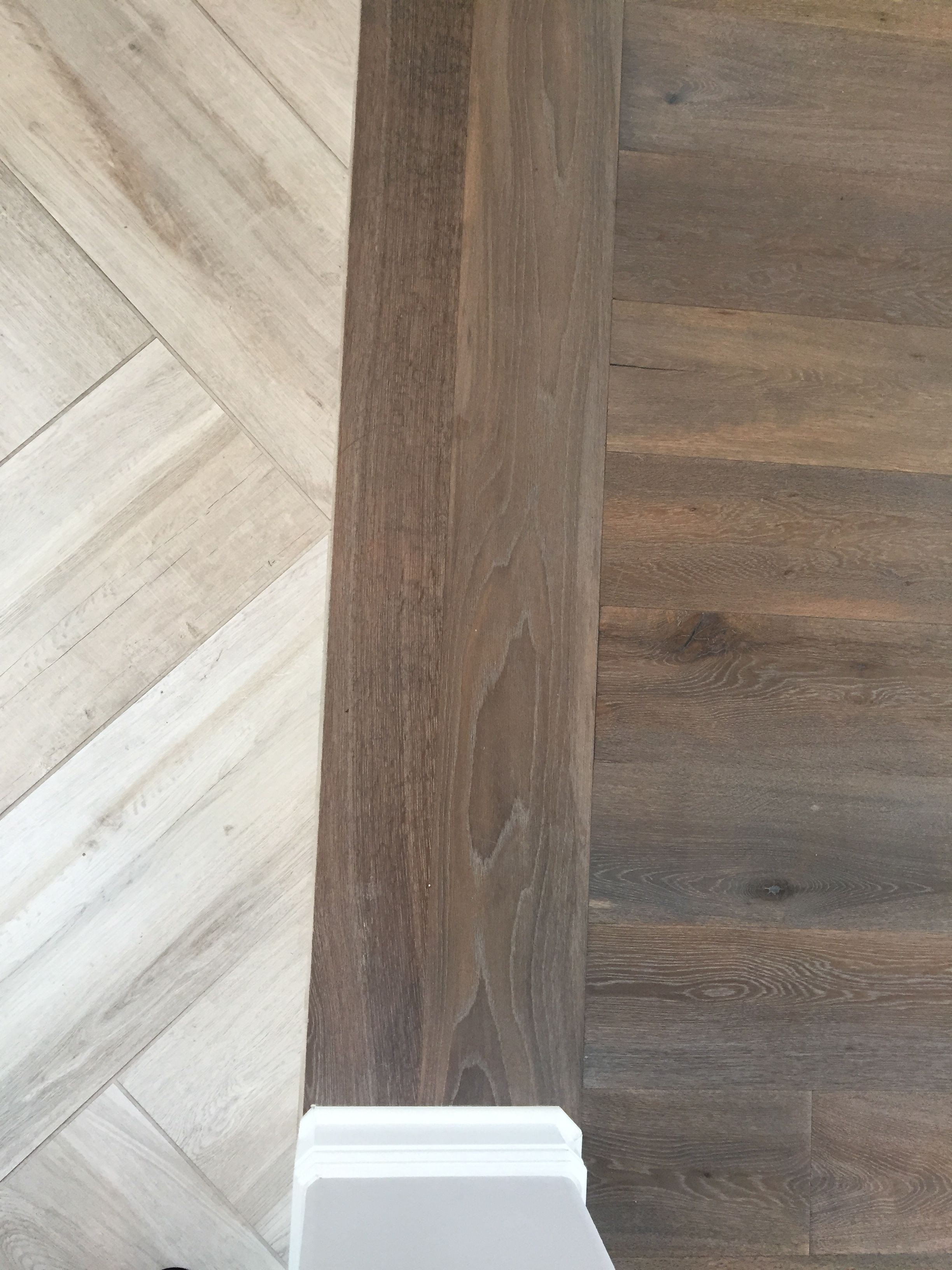 Hardwood Floor Trim Installation Of Floor Transition Laminate to Herringbone Tile Pattern Model for Floor Transition Laminate to Herringbone Tile Pattern Herringbone Tile Pattern Herringbone Wood Floor