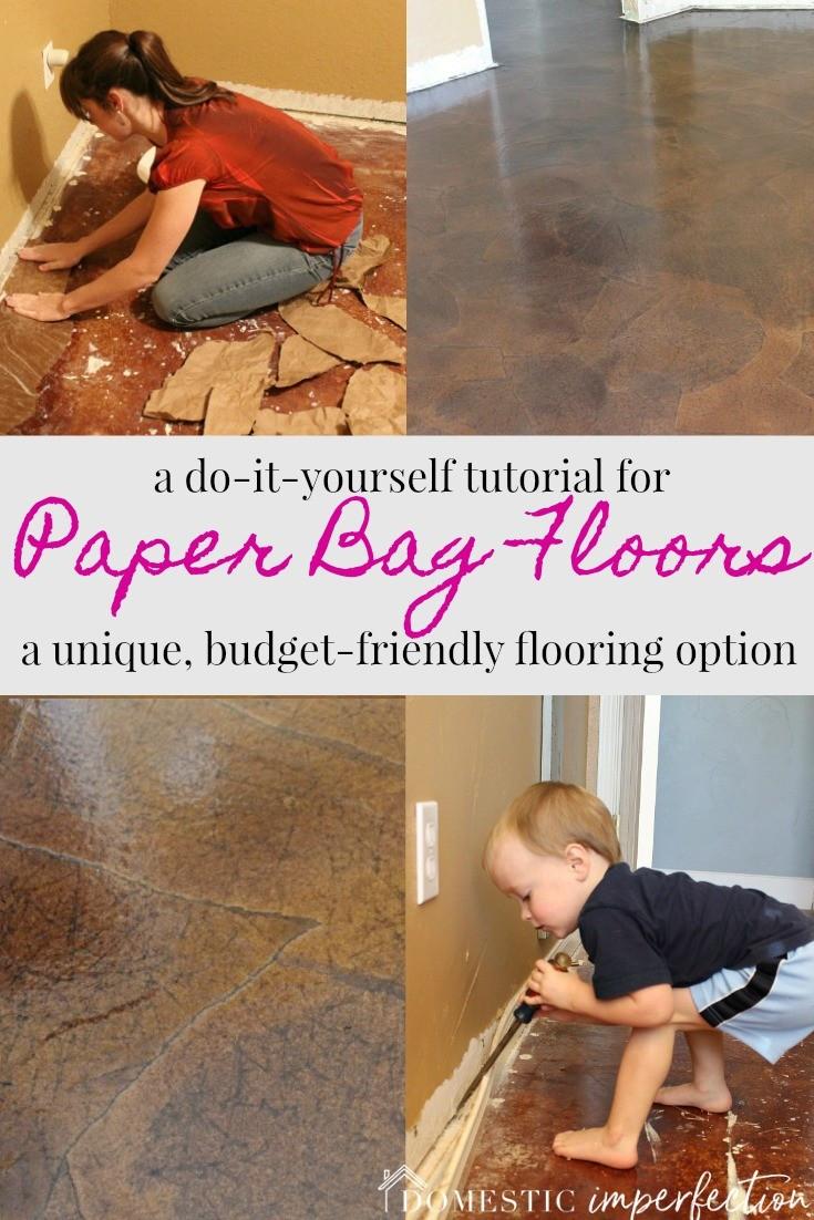 hardwood floor trowel filler of paper bag floors a tutorial domestic imperfection throughout budget friendly flooring option paper bag floors