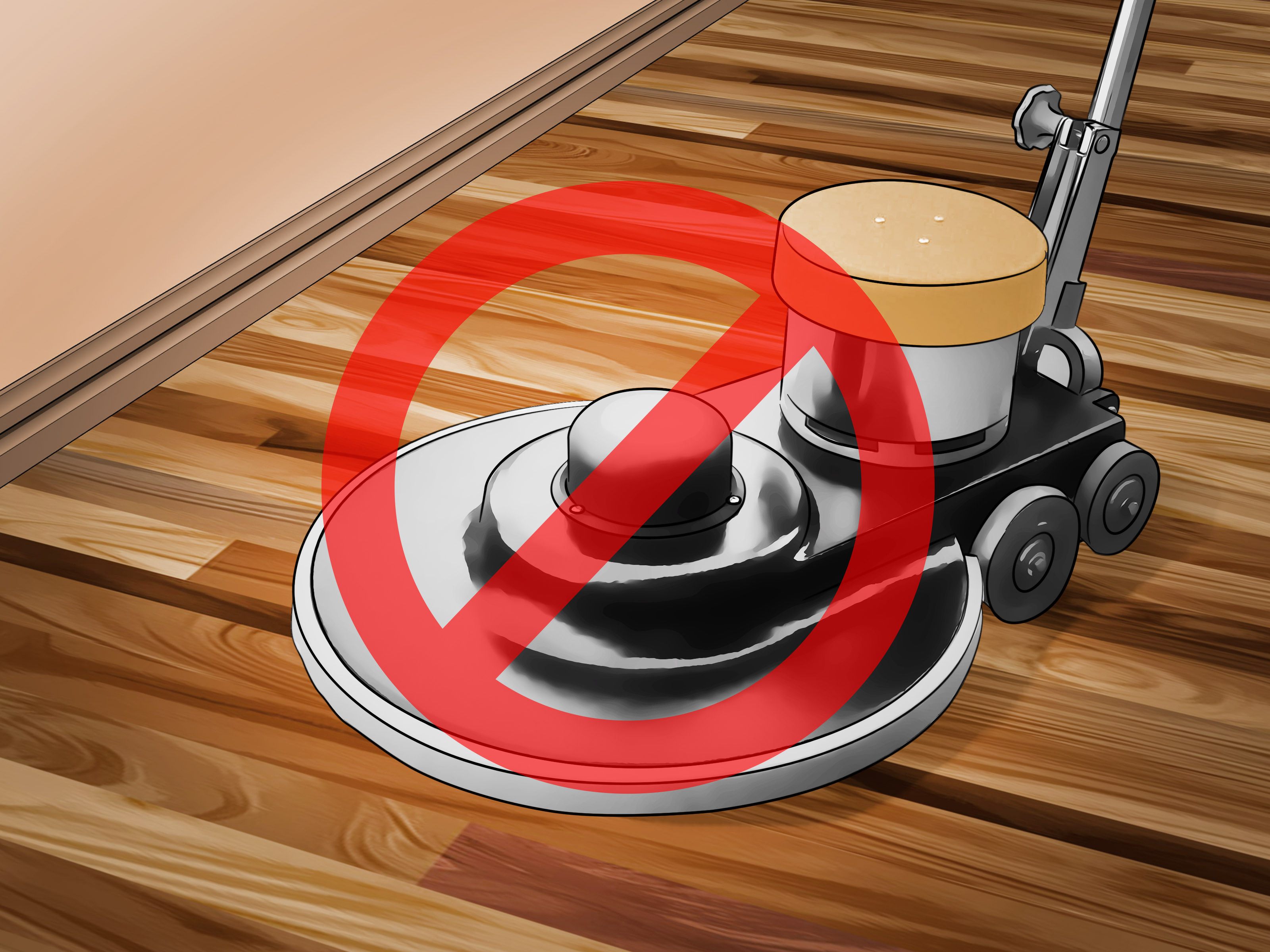 hardwood floor vacuum brush of 4 ways to clean polyurethane wood floors wikihow for clean polyurethane wood floors step 15