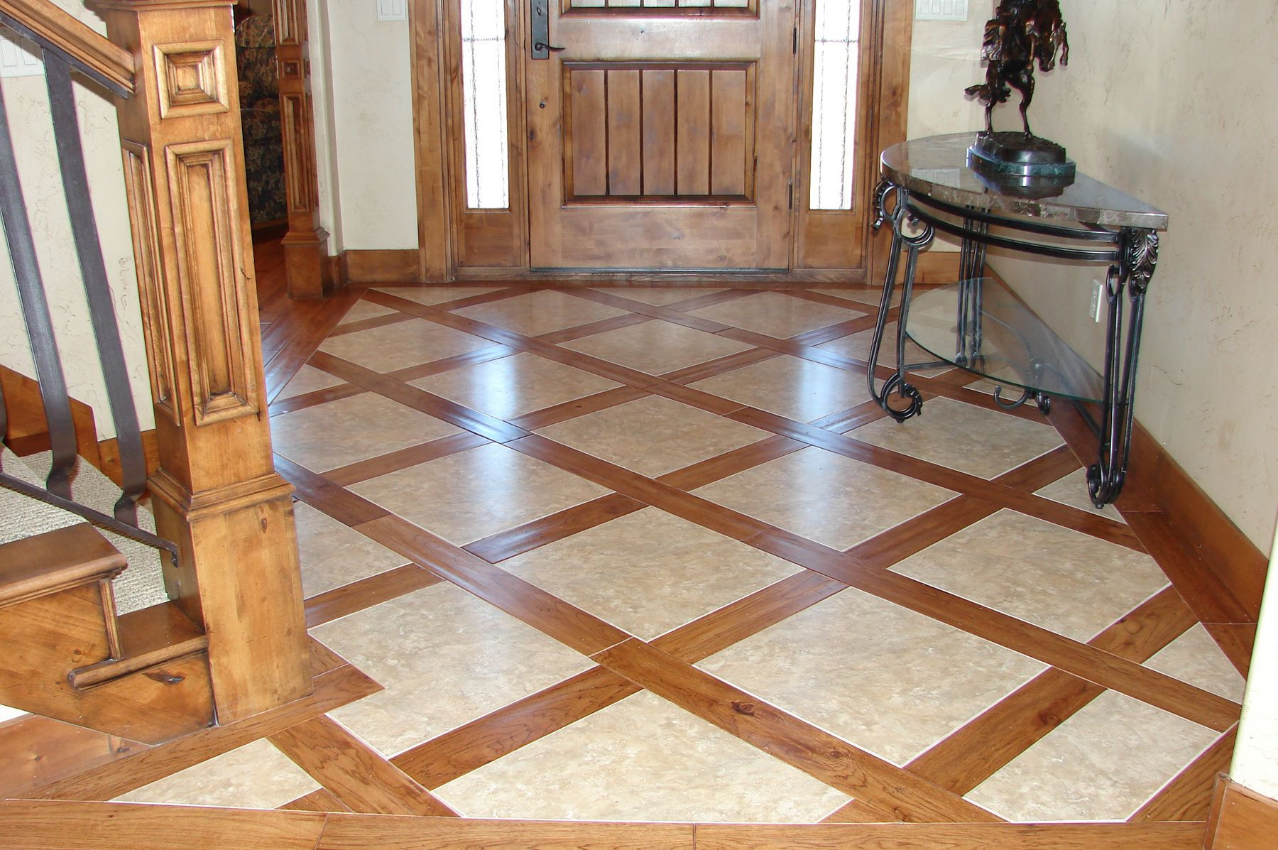 hardwood floor vs tile of faux wood floor tiles with tile inserts very creative and lovely with regard to faux wood floor tiles with tile inserts very creative and lovely description from pinterest com i searched for this on bing com images