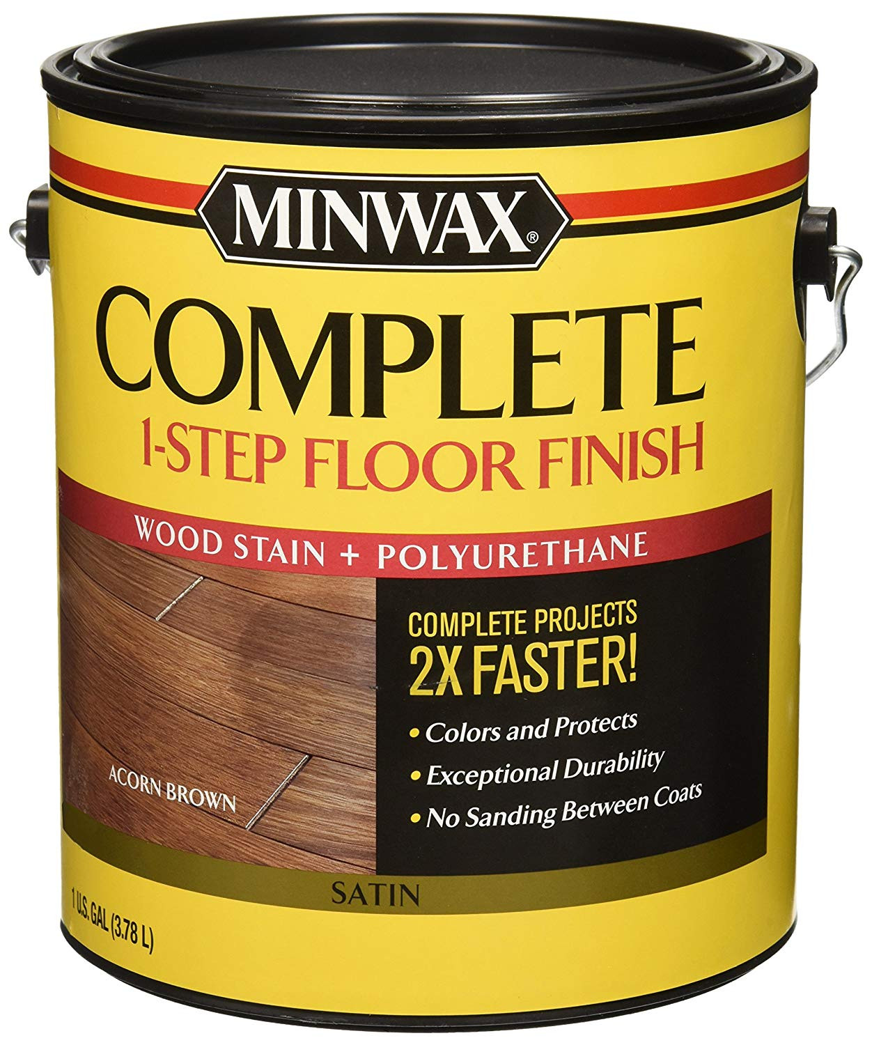 Hardwood Floor Wax Reviews Of Minwax 672030000 1g Satin Acorn Brown Complete 1 Step Floor Finish Intended for Minwax 672030000 1g Satin Acorn Brown Complete 1 Step Floor Finish Amazon Com