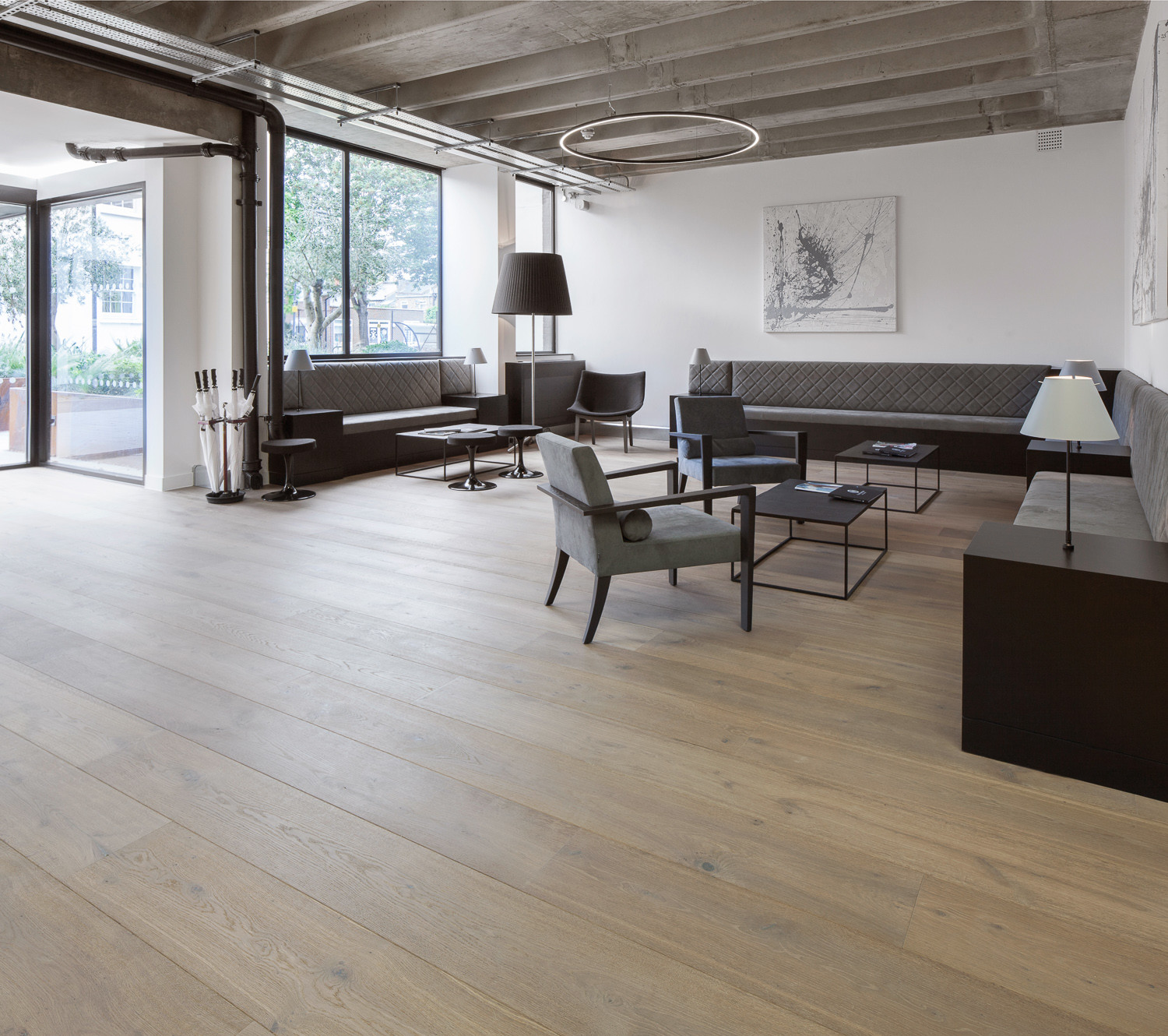 hardwood floor with contrasting border of the new reclaimed flooring company with regard to the report indicated that 82 of workers who were employed in places with eight or more wood surfaces had higher personal productivity mood concentration