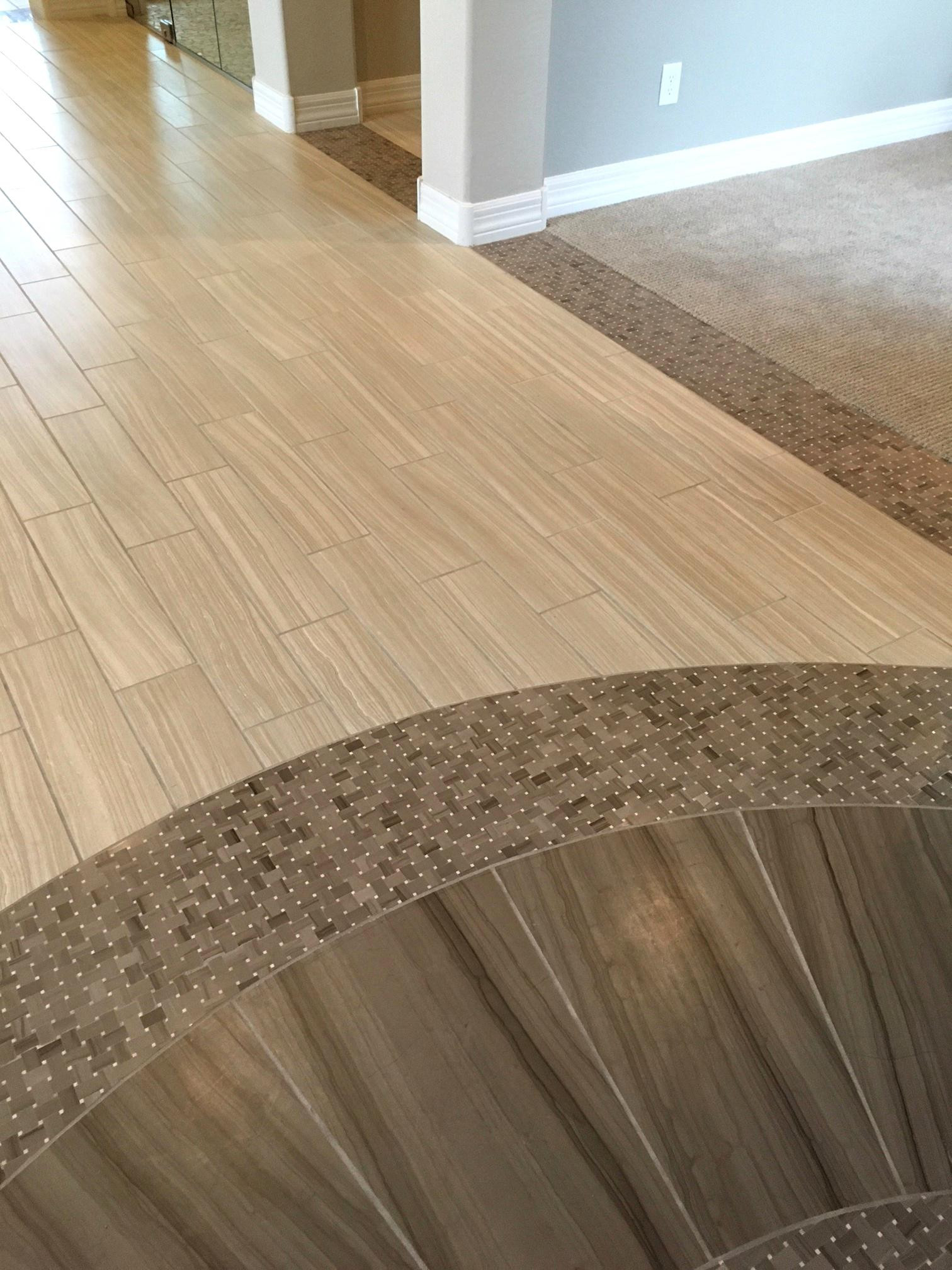 21 Elegant Hardwood Floor With Tile Inlay
