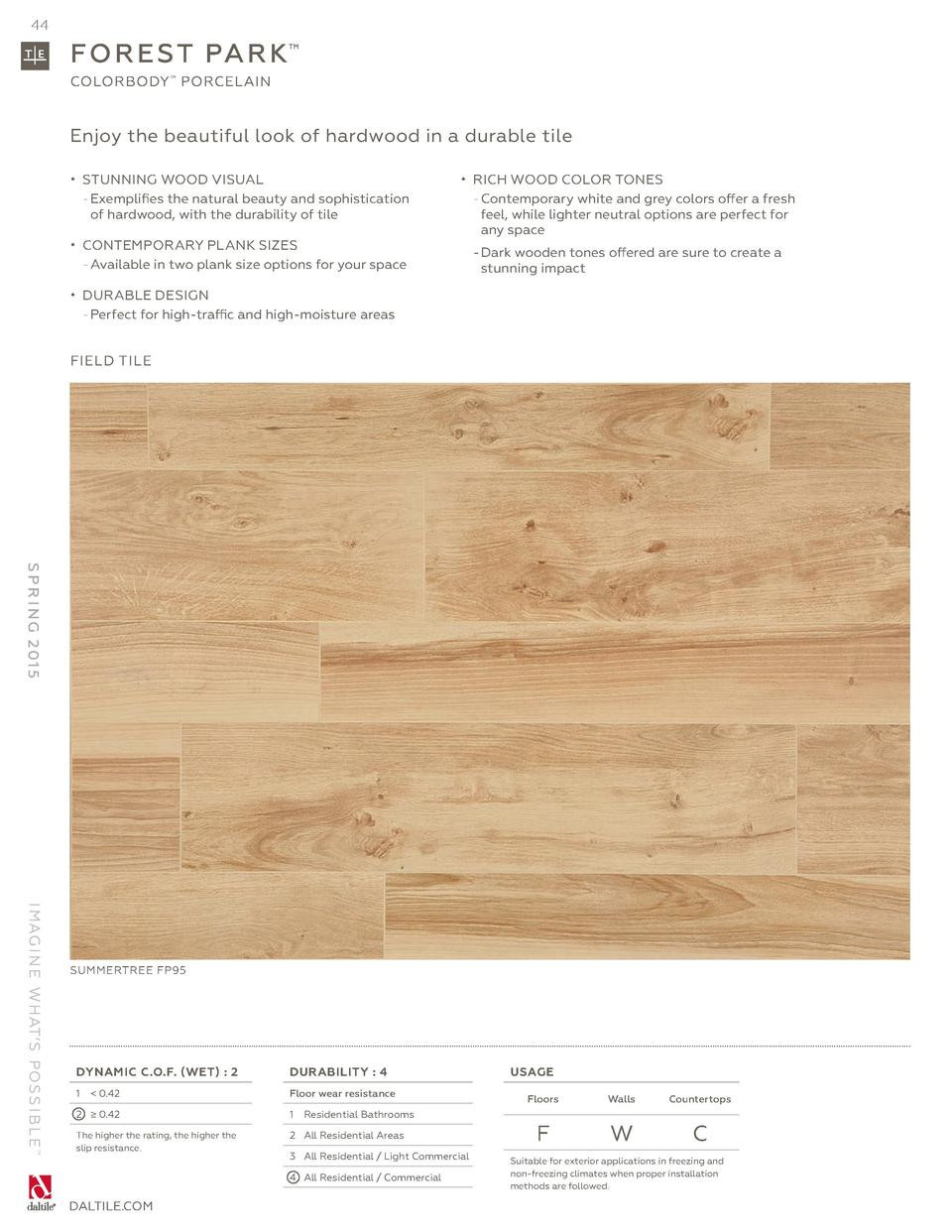hardwood flooring companies in greensboro nc of daltile spring 2015 catalog simplebooklet com regarding 44 fo r e st pa r k colorbody porcelain enjoy the beautiful look of hardwood in a