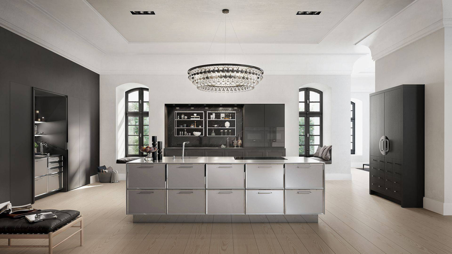 hardwood flooring contractor fairfield county ct of siematic kitchen interior design of timeless elegance with siematic classic beauxarts se kitchen in black matte oak with island and chinese wedding cabinet