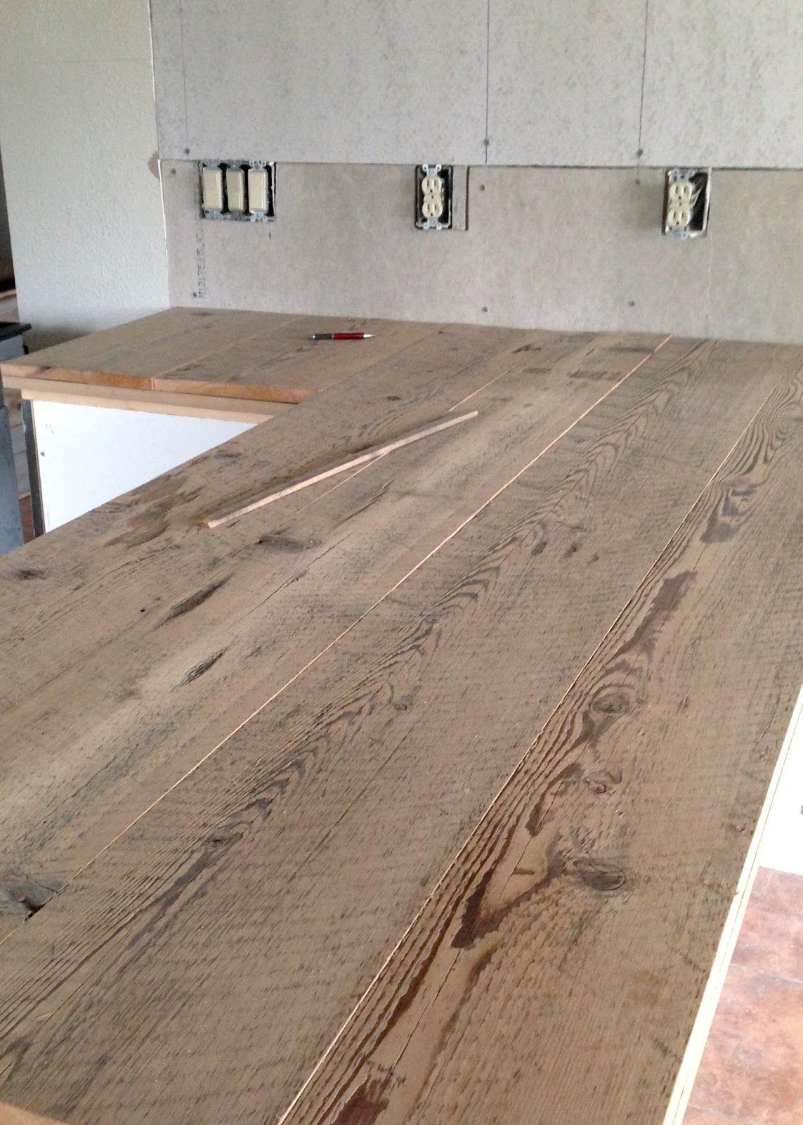 hardwood flooring countertops diy of diy reclaimed wood countertop renovation pinterest reclaimed throughout diy reclaimed wood countertop gluing and nailing down reclaimed wood boards