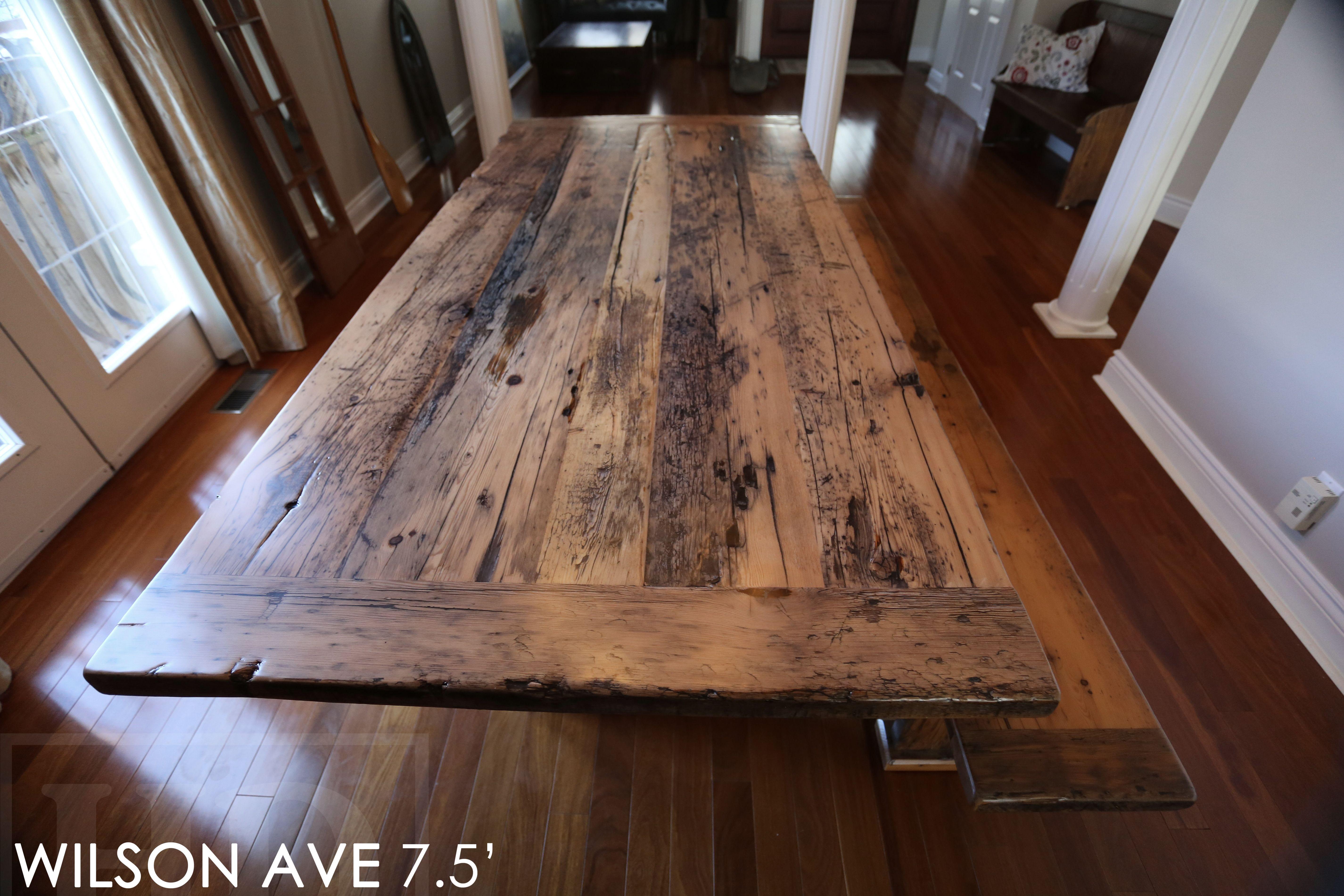 hardwood flooring deals ontario of reclaimed wood plank base table by hd threshing floor furniture of with reclaimed wood plank base table by hd threshing floor furniture of cambridge ontario www