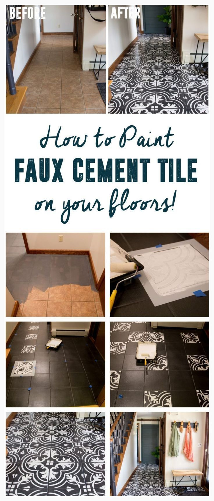 Hardwood Flooring Depot Irvine Ca Of 1409 Best Diy Home Improvement Images On Pinterest Room Tiles with Regard to Diy Faux Cement Tile How to Paint Tile Diy Faux Cement Tile Floors Www