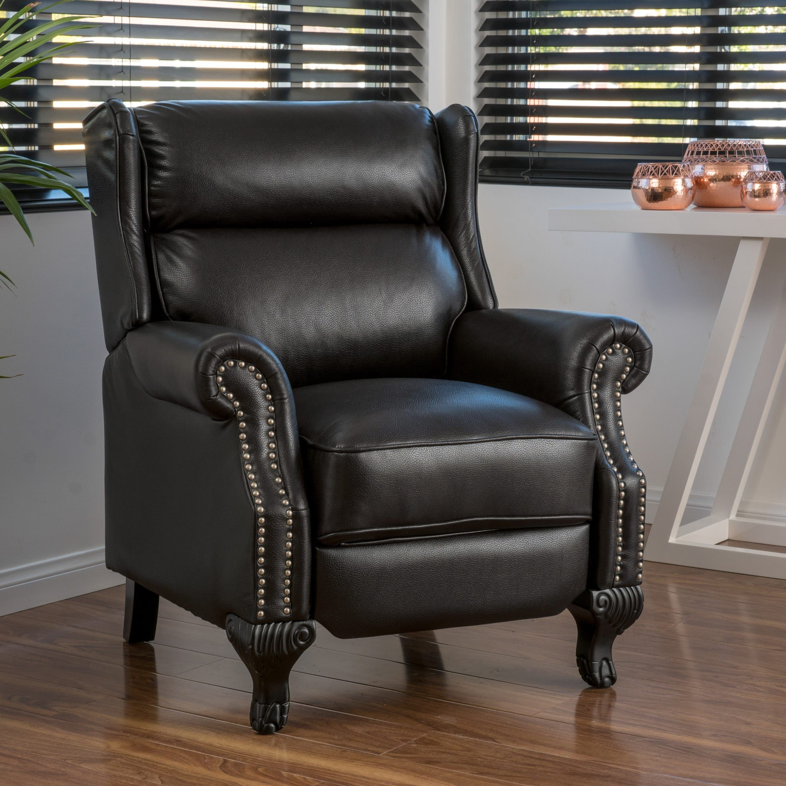 hardwood flooring dimension standards of tauris pu leather recliner club chair by christopher knight home pertaining to tauris pu leather recliner club chair by christopher knight home black size standard