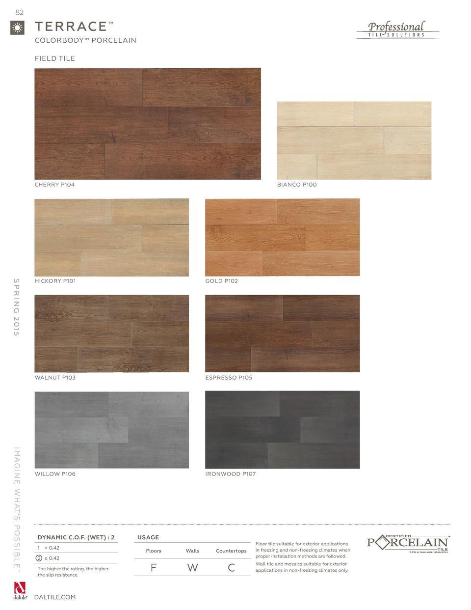 hardwood flooring el paso tx of daltile spring 2015 catalog simplebooklet com in 82 t e r r ac e colorbody porcelain field tile cherry p104 bianco p100 i mag i n e w hat