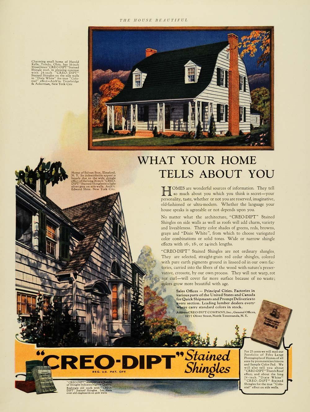 Hardwood Flooring Elmsford New York Of Other Advertising Tagged Thb1 Period Paper Regarding 1924 Ad Creo Dipt Stained Shingles Home Improvement original Advertising Thb1