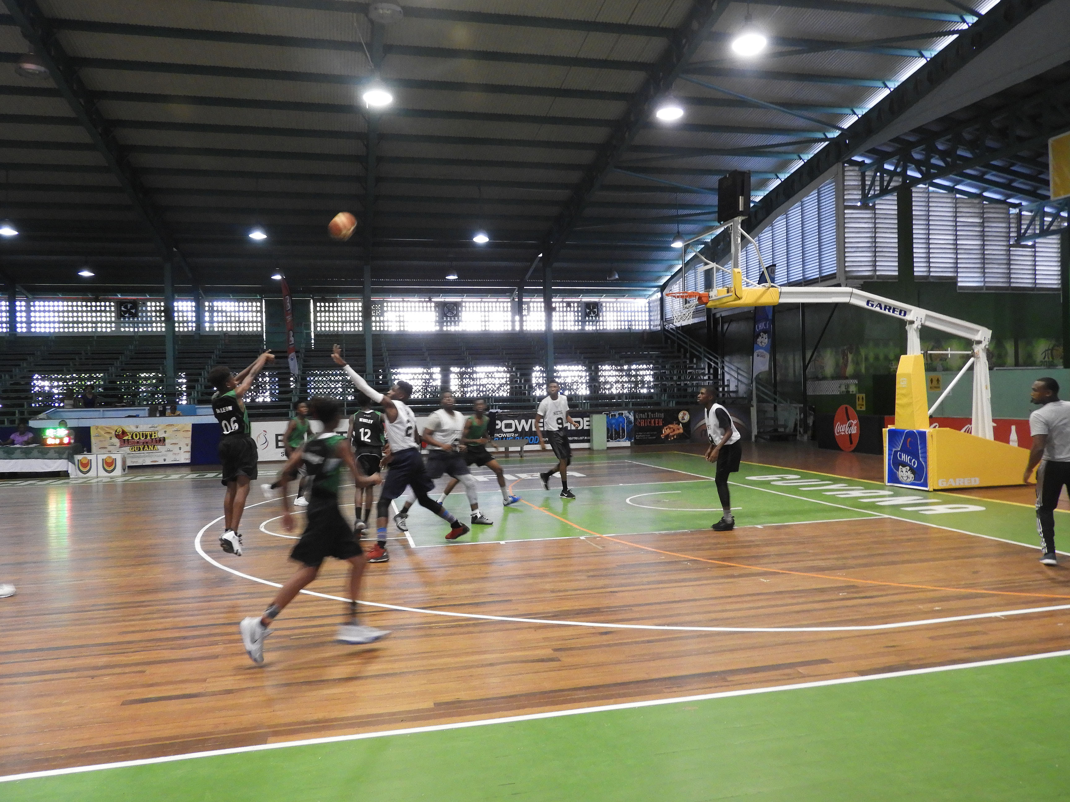 hardwood flooring georgetown ontario of st joseph marian academy and north g town notch wins stabroek news within action between chase academy and north georgetown in the national school basketball festival at the cliff anderson sports hall homestretch avenue
