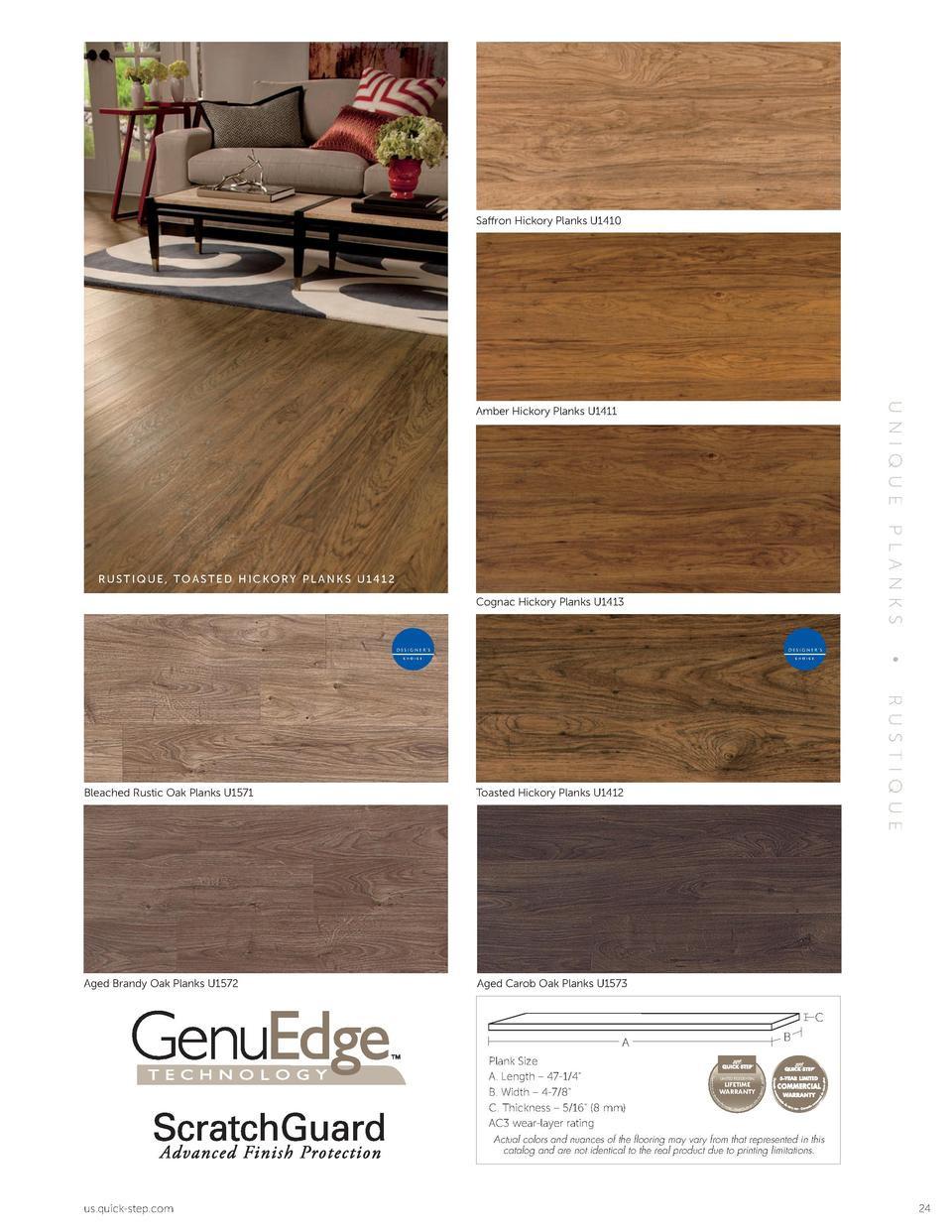 hardwood flooring hickory nc of quick step laminate catalog simplebooklet com pertaining to saffron hickory planks u1410 dark varnished oak planks u1013 amber hickory planks u1411 u ni que