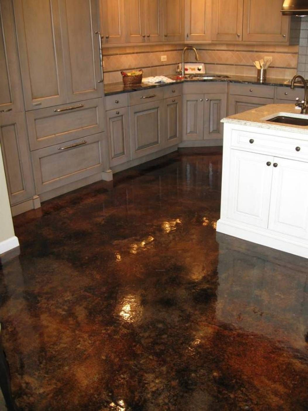 hardwood flooring in ventura ca of acid stained concrete with high gloss flooring for kitchen intended for acid stained concrete with high gloss flooring for kitchen
