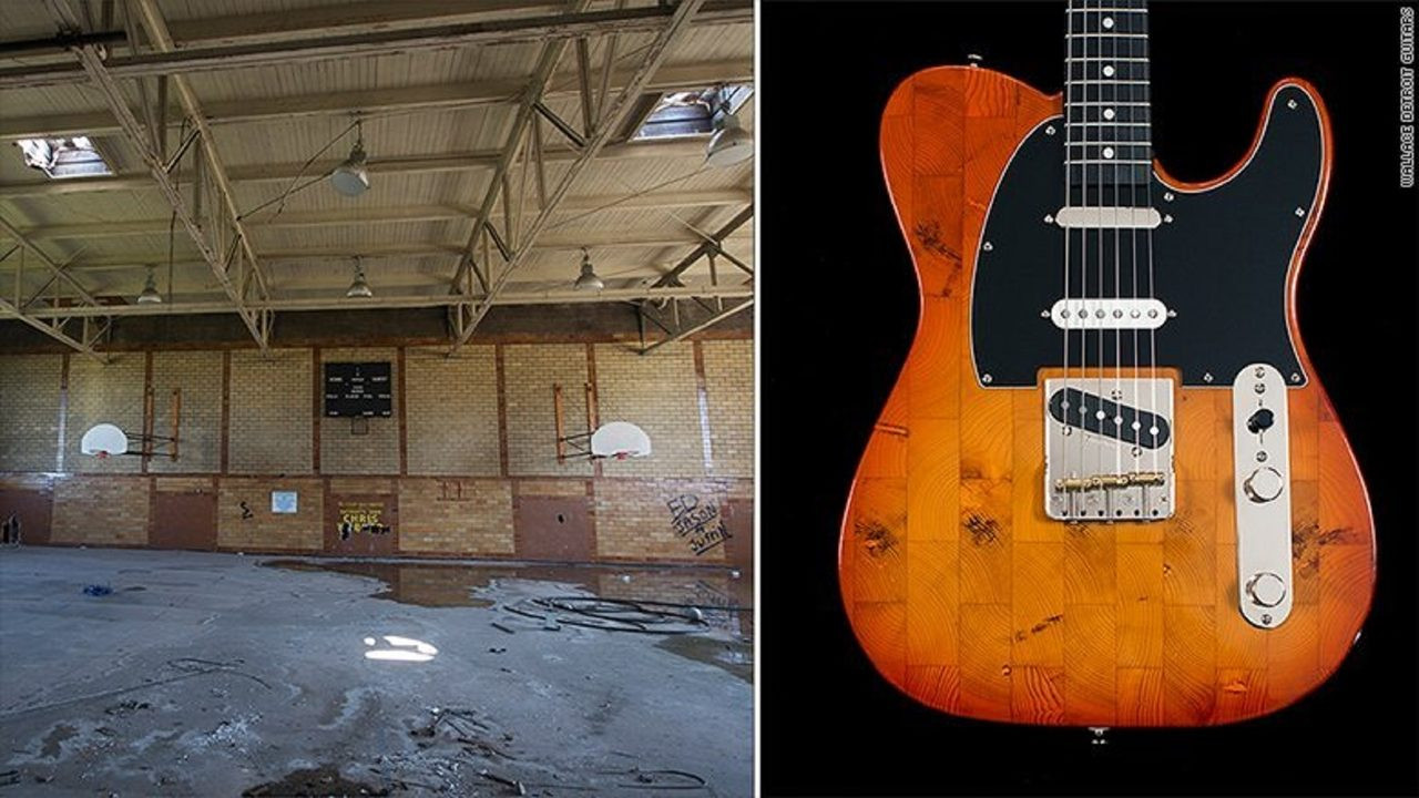hardwood flooring lehigh valley pa of he turns wood from detroits vacant buildings into beautiful guitars intended for he turns wood from detroits vacant buildings into beautiful guitars wfmz