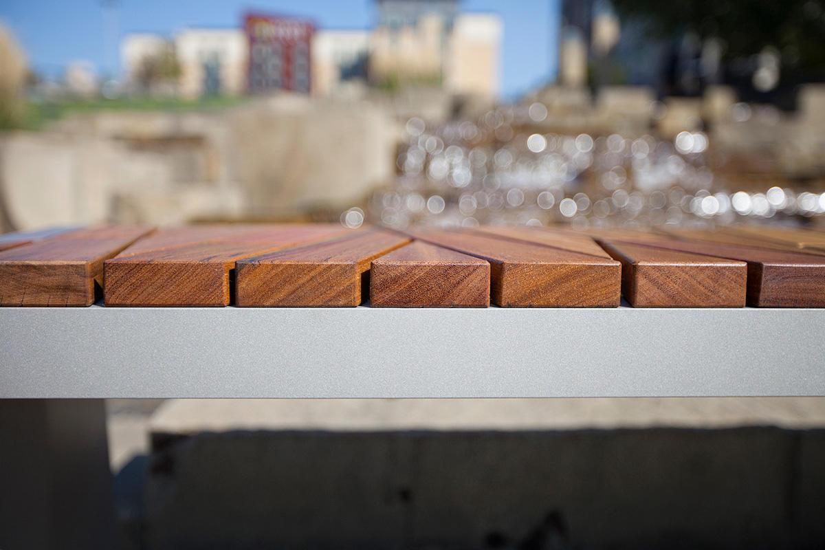 Hardwood Flooring Manufacturers Of Boardwalk Bench Outdoor forms Surfaces Regarding Boardwalk Bench with atlantic City Boardwalk Fsca Recycled Reclaimed Cumaru Hardwood Slats and Aluminum Texture Powdercoated Frame