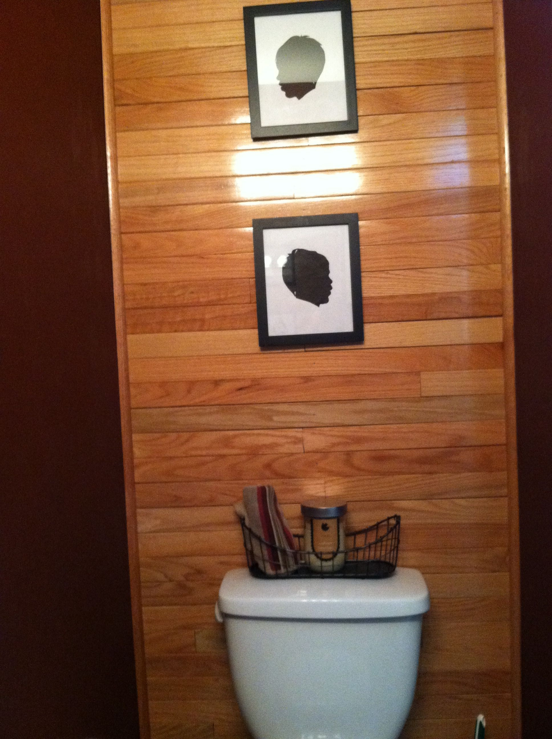 hardwood flooring o fallon mo of bathroom wall made of leftover hardwood flooring all the walls in with regard to bathroom wall made of leftover hardwood flooring all the walls in this half bath were a dark burgundy color and i planned on painting them