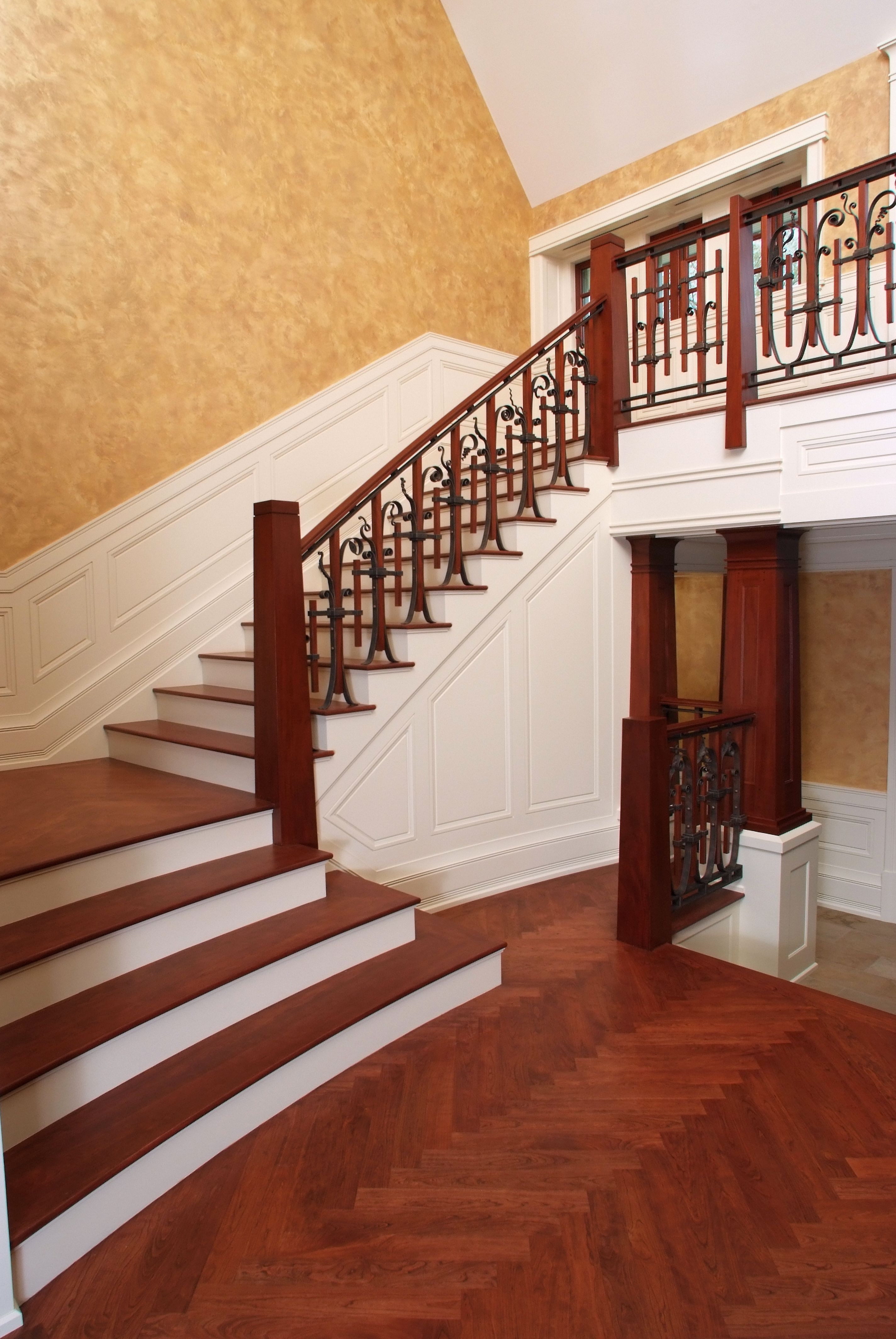 hardwood flooring on stairs pictures of custom mahogany staircase with cherry stair treads and solid cherry regarding custom mahogany staircase with cherry stair treads and solid cherry herringbone pattern floor