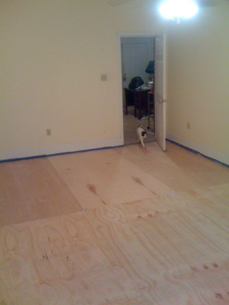 hardwood flooring pull bar of diy plywood floors 9 steps with pictures with picture of install the plywood floor