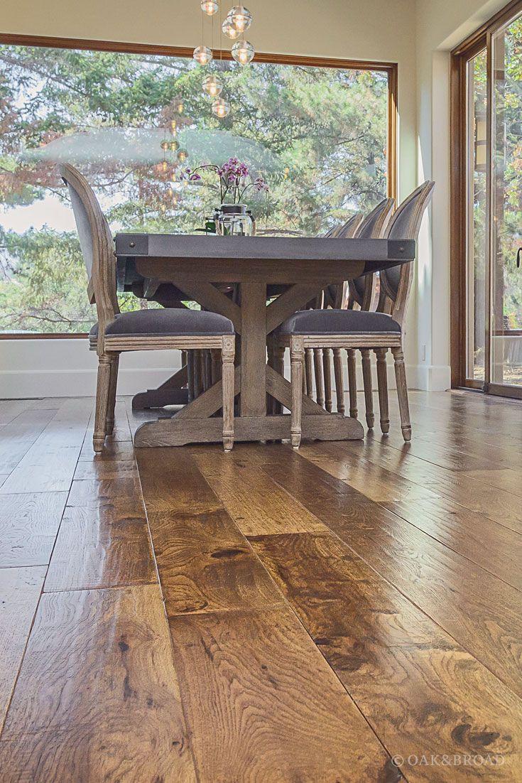 hardwood flooring reviews ratings of custom hand scraped hickory floor in cupertino hickory wide plank pertaining to wide plank hand scraped hickory hardwood floor by oak and broad detail of heavy farm
