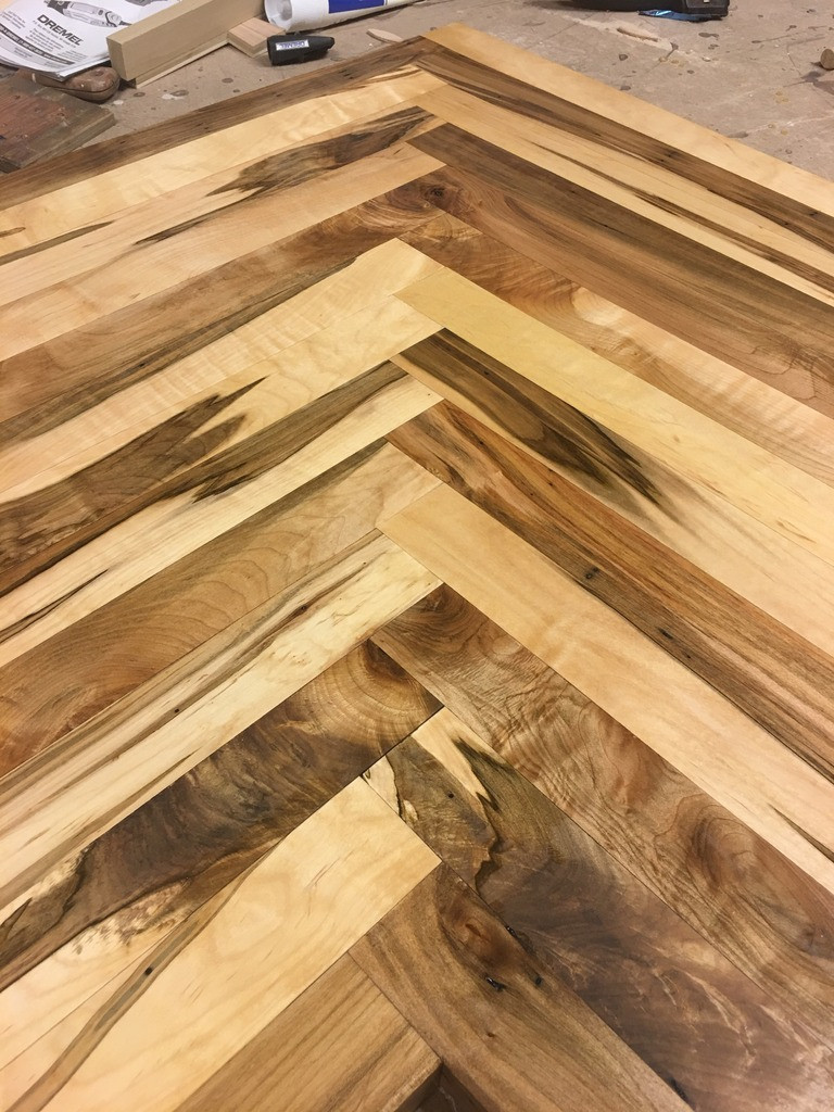 Hardwood Flooring Statesville Nc Of Ambrosia Maple Just Curious Page 2 Intended for I Sure Did Use Up A Lot Of Biscuits but the Result is Pretty Stunning Here It is with Its Fist Coat Of Waterlox with A Couple Shots Of the Really Nice