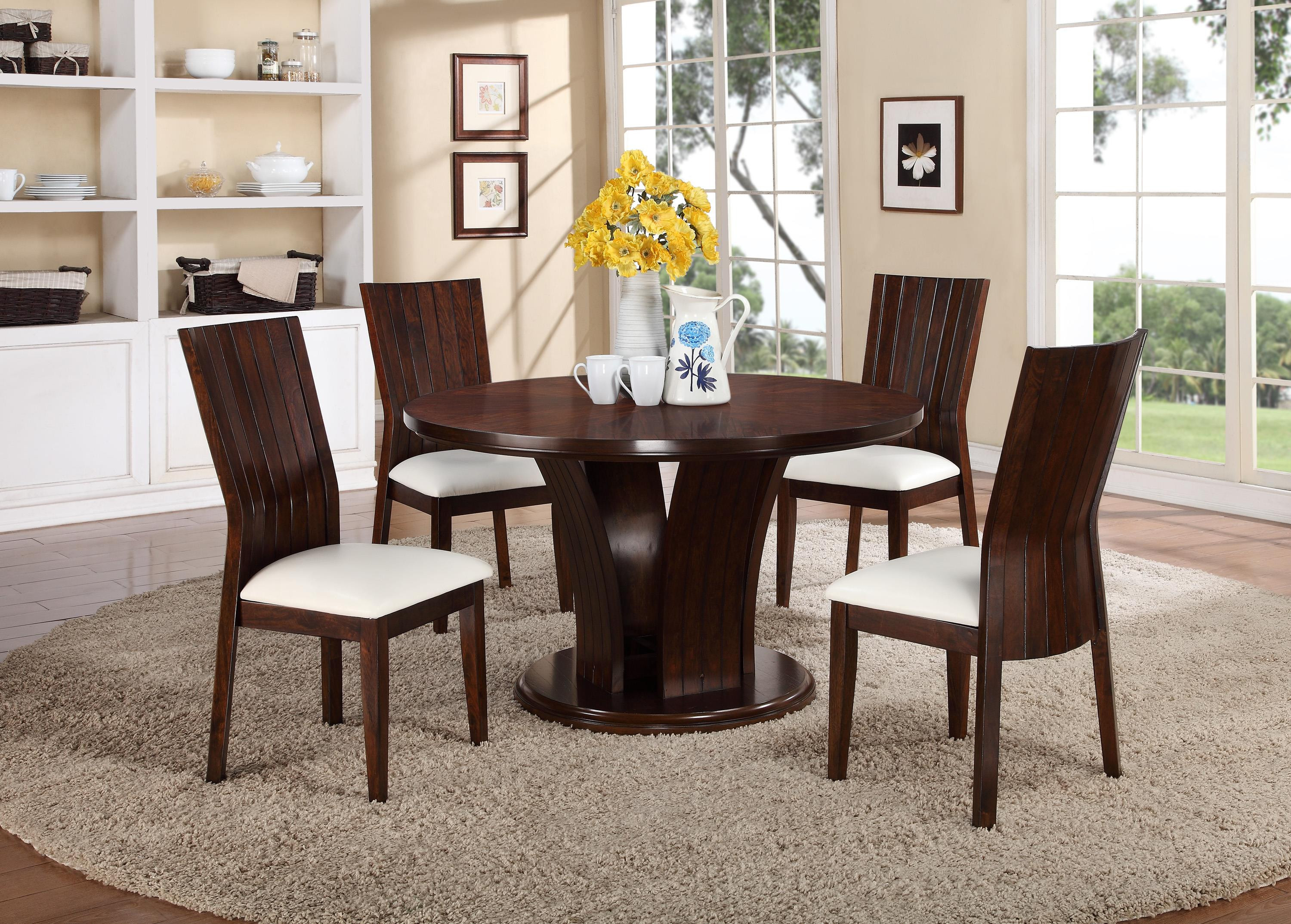 hardwood flooring stores memphis of crown mark daria 5 piece dining set with round pedestal table and with crown mark daria 5 piece dining set item number 2234s wh2234t