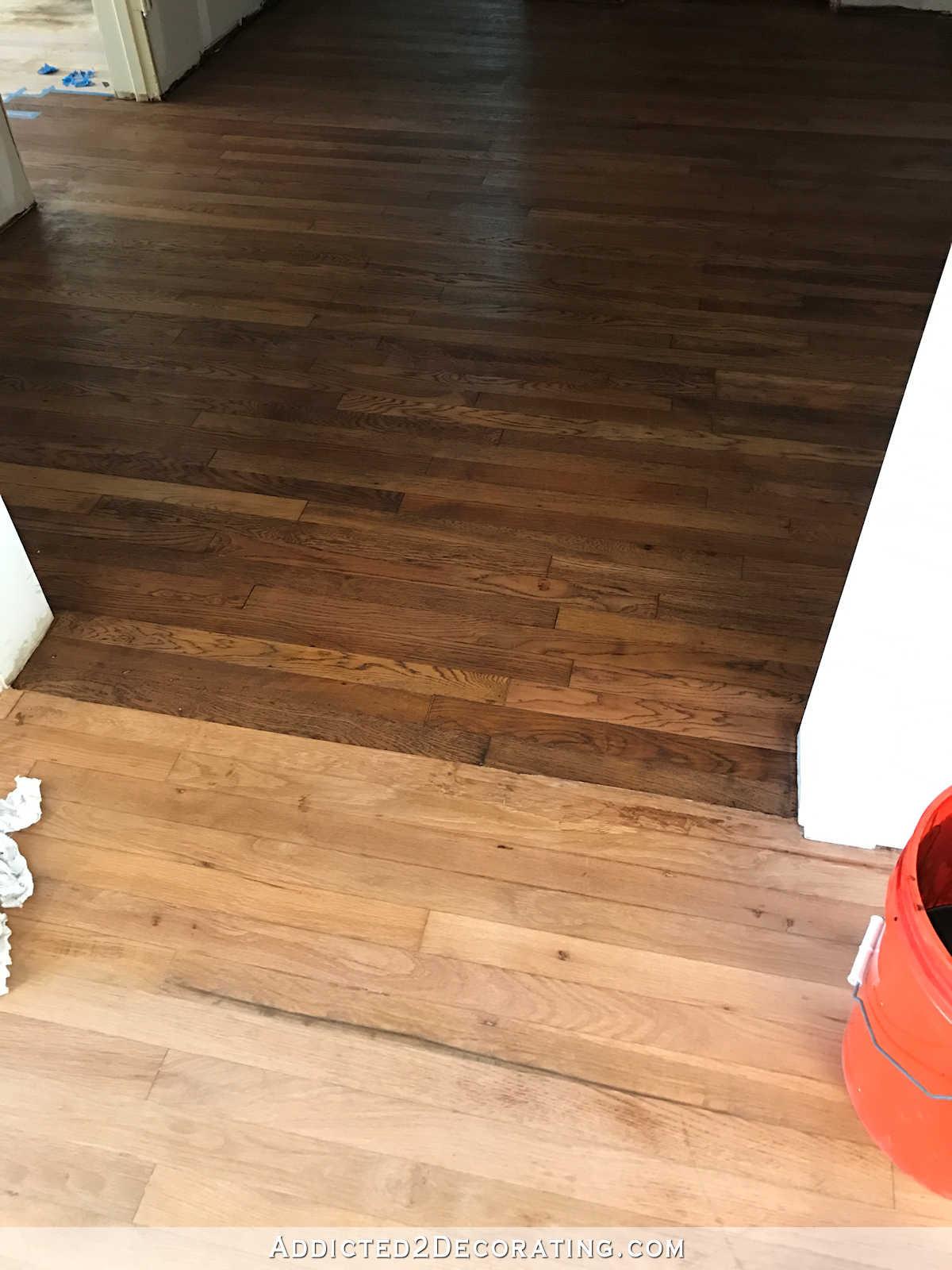 hardwood flooring summit nj of getting paint off wood floor adventures in staining my red oak with regard to getting paint off wood floor adventures in staining my red oak hardwood floors products process