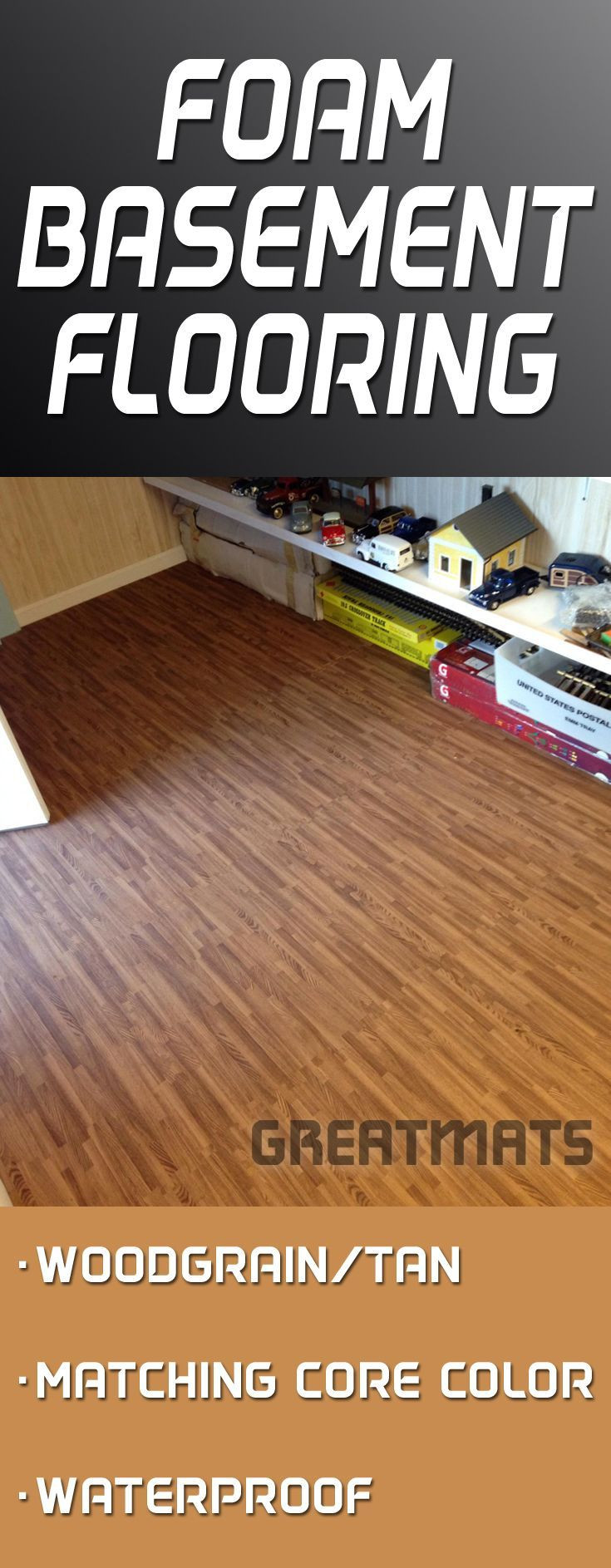 hardwood flooring vaughan of 19 best basement ideas unfinished images on pinterest basement pertaining to reversible wood grain foam tiles offer a cushioned waterproof and durable basement floor solution